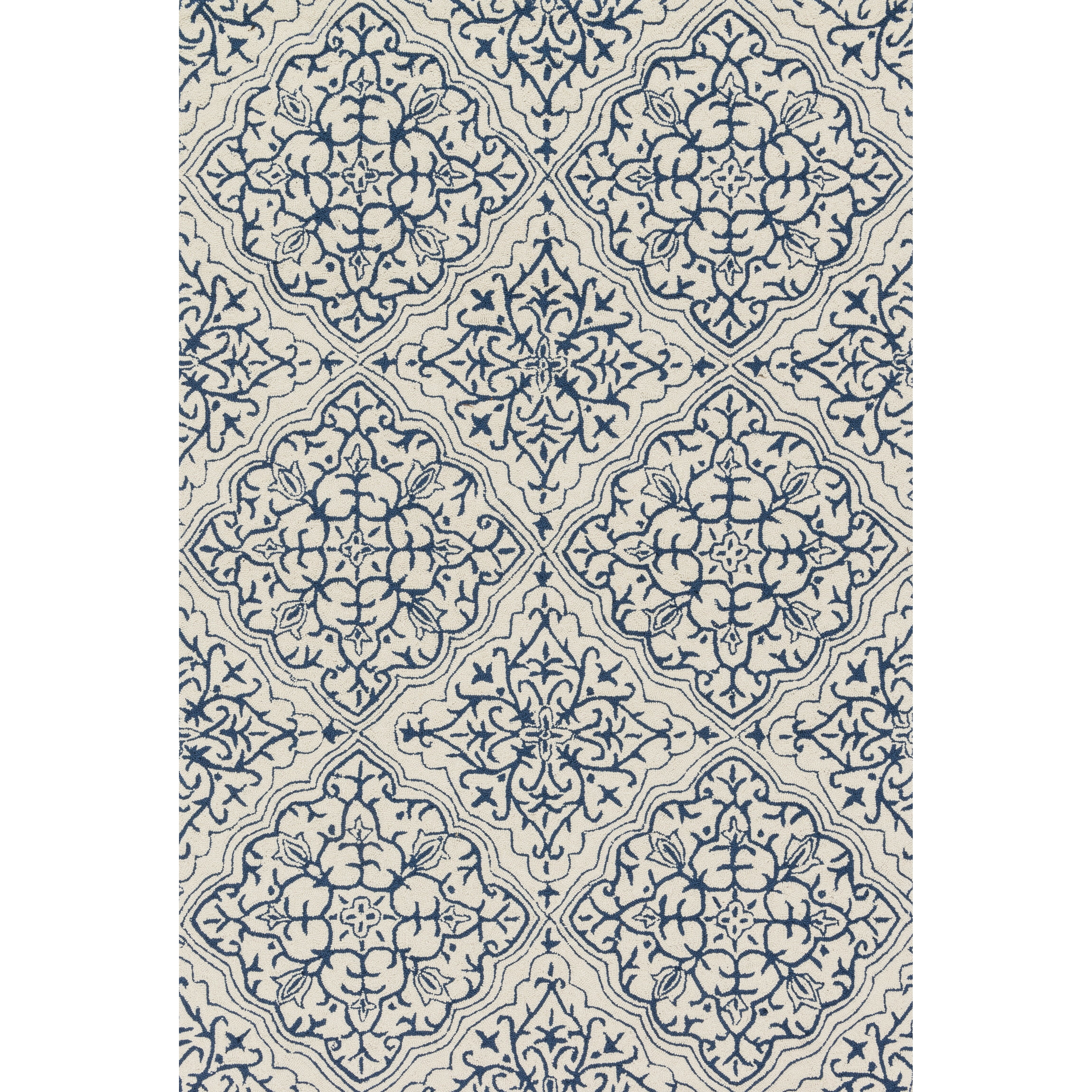 Woolrich Blue And White Floral Rug: Loloi Rugs Francesca Blue & White Floral Area Rug