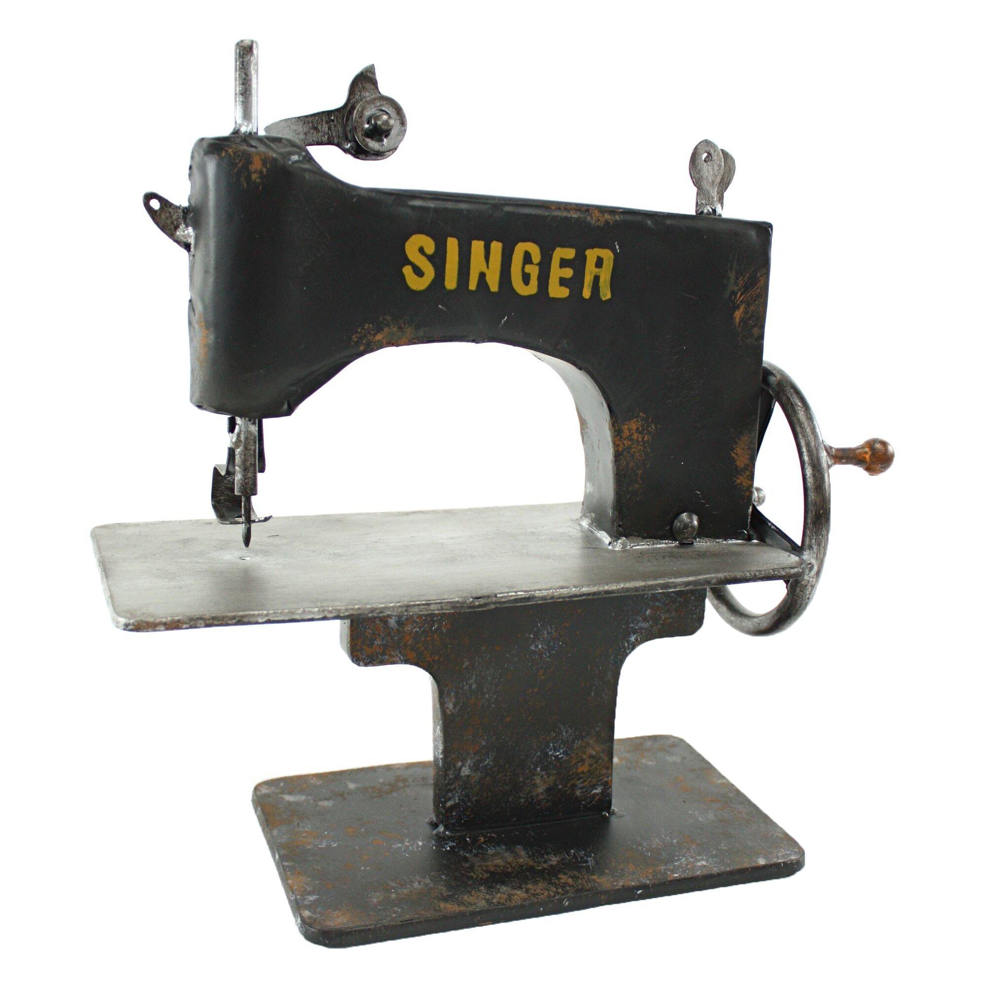 Singer metal sewing machine decor wayfair for Decor 99 sewing machine
