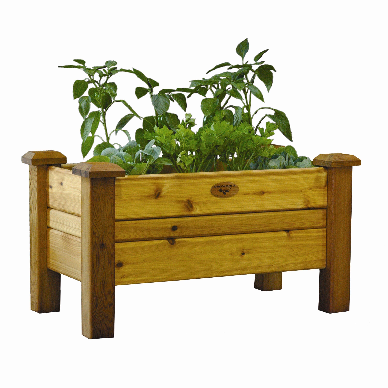 outdoor lawn garden wood planters gronomics sku nwo1015
