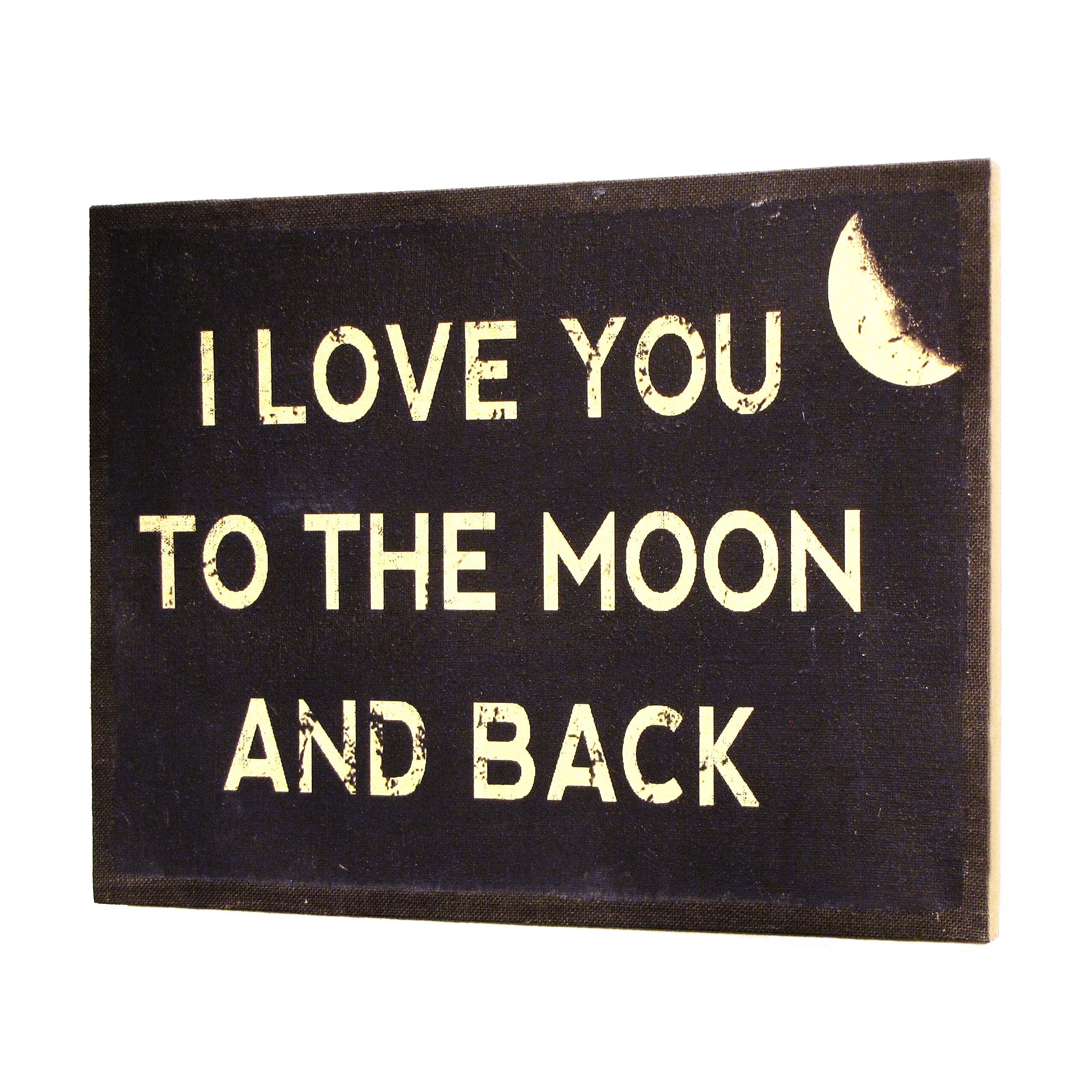inspire me i love you to the moon and back framed. Black Bedroom Furniture Sets. Home Design Ideas