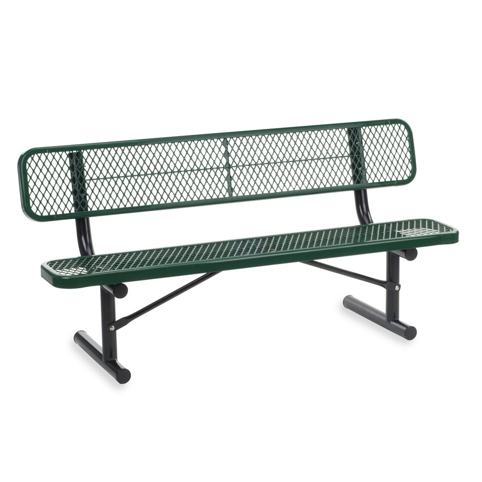 Outdoor Metal And Plastic Garden Bench Wayfair Supply
