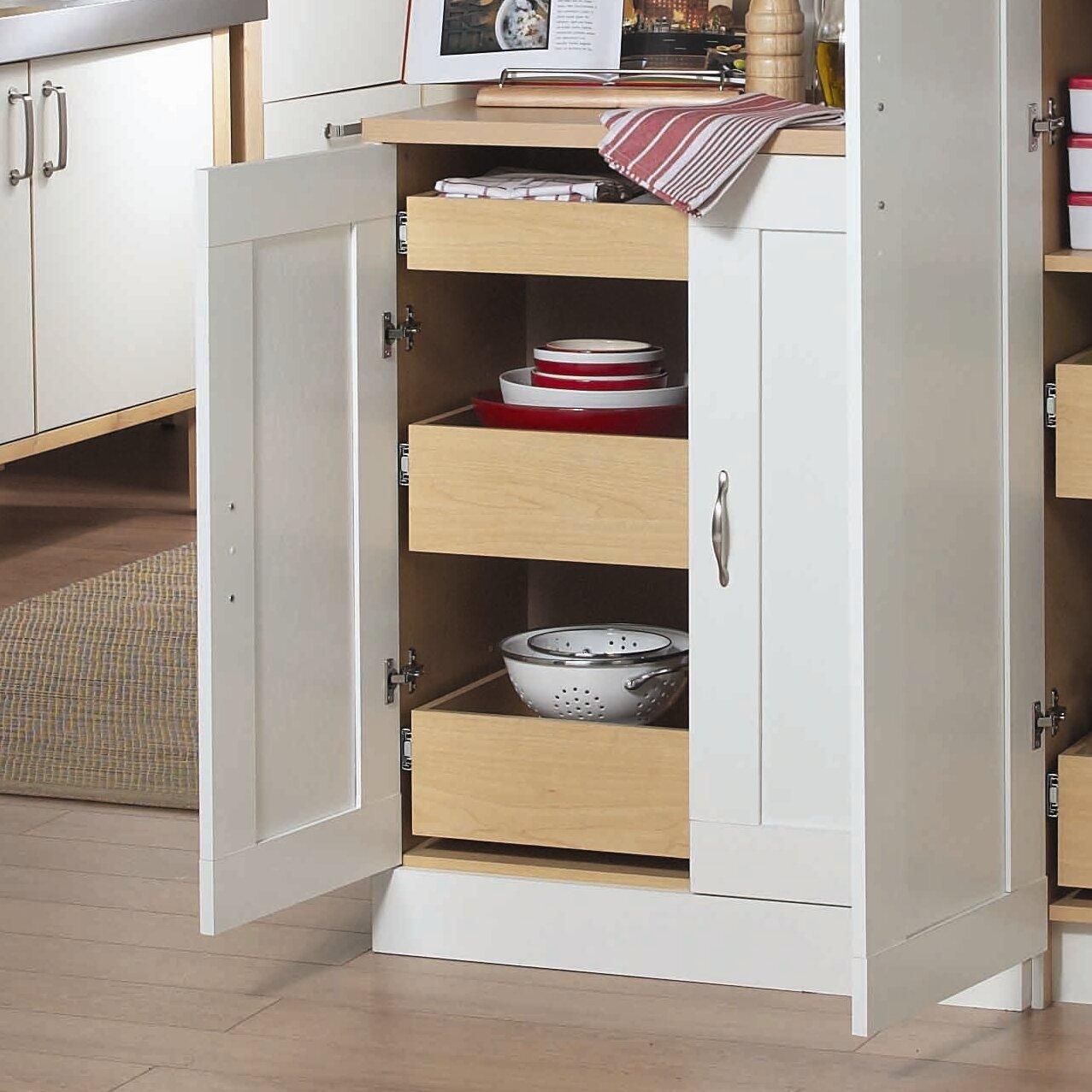 AkadaHOME 37 Kitchen Pantry Reviews Wayfair