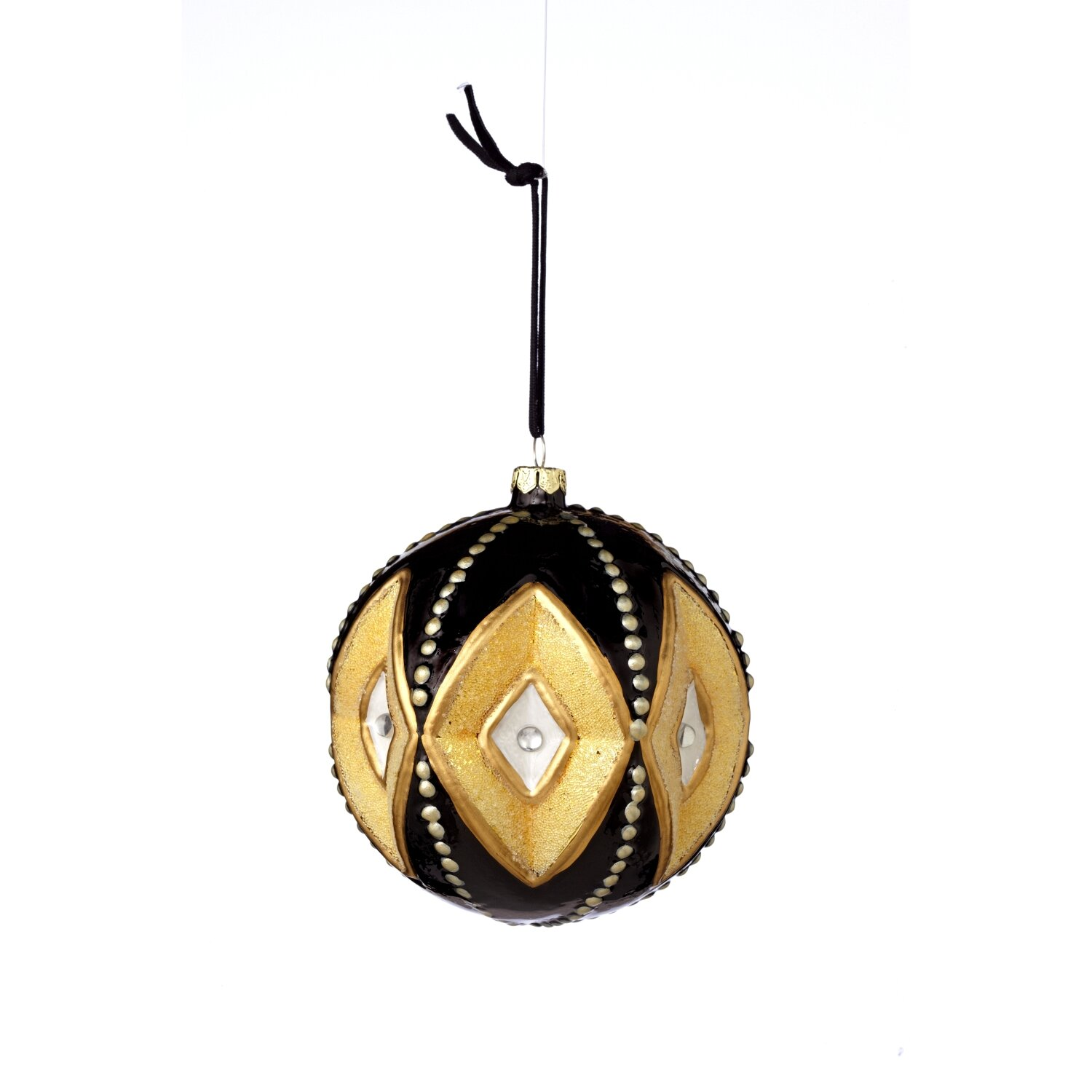 Sage co baroque glass deco pattern ball ornament for Deco baroque