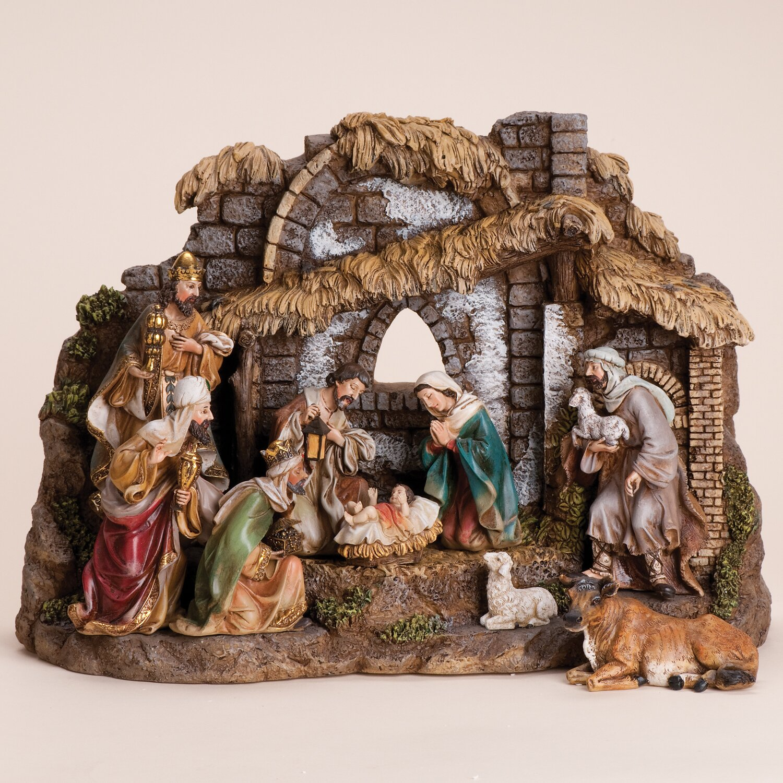 Joseph S Studio 10 Piece Nativity Set With Stable