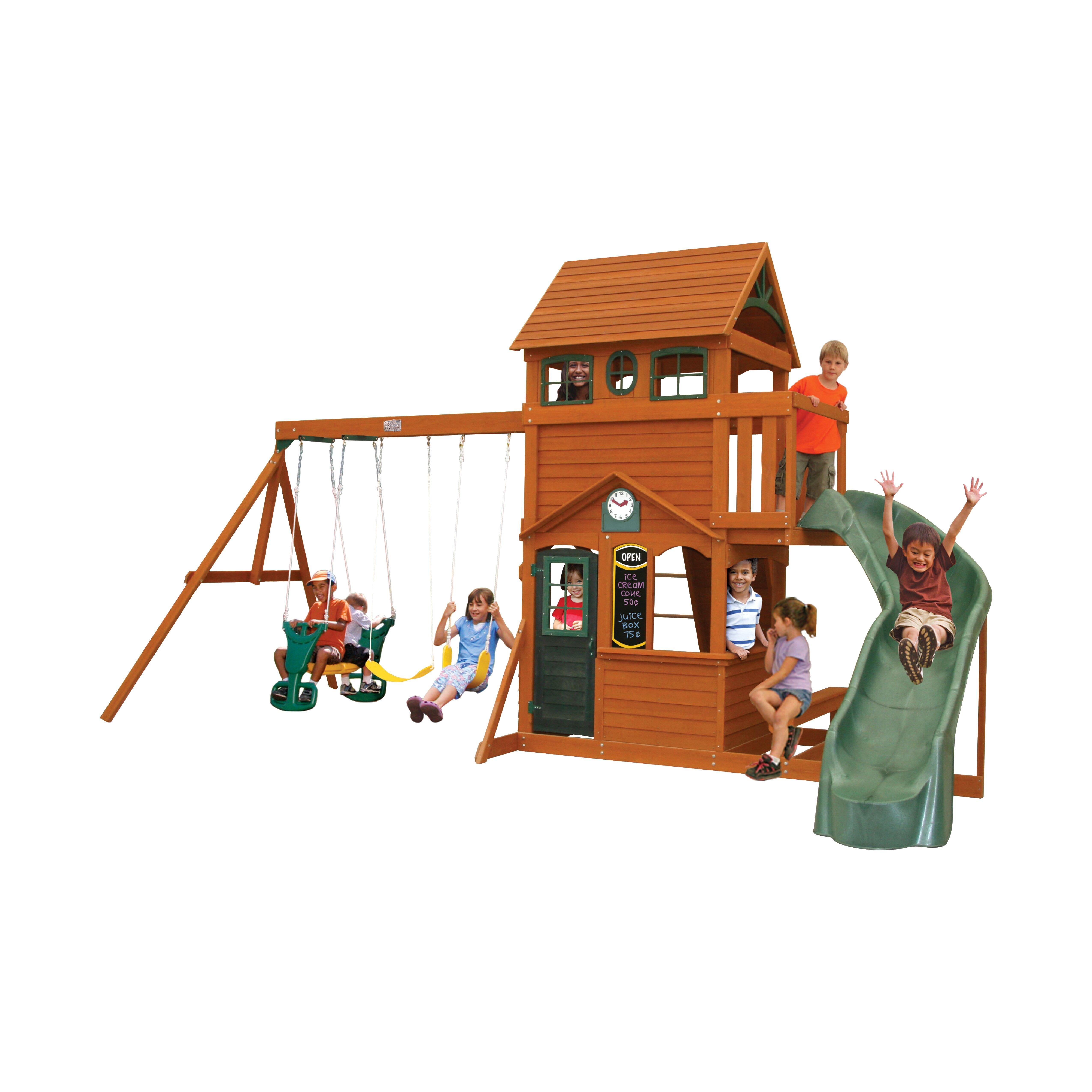 Baby & Kids Backyard Play  Wood Swing Sets Big Backyard SKU