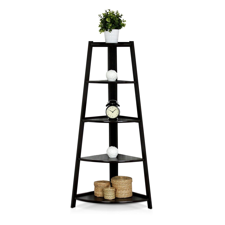 Yaotai 5-Layer Corner Ladder Garden Shelf by Furinno