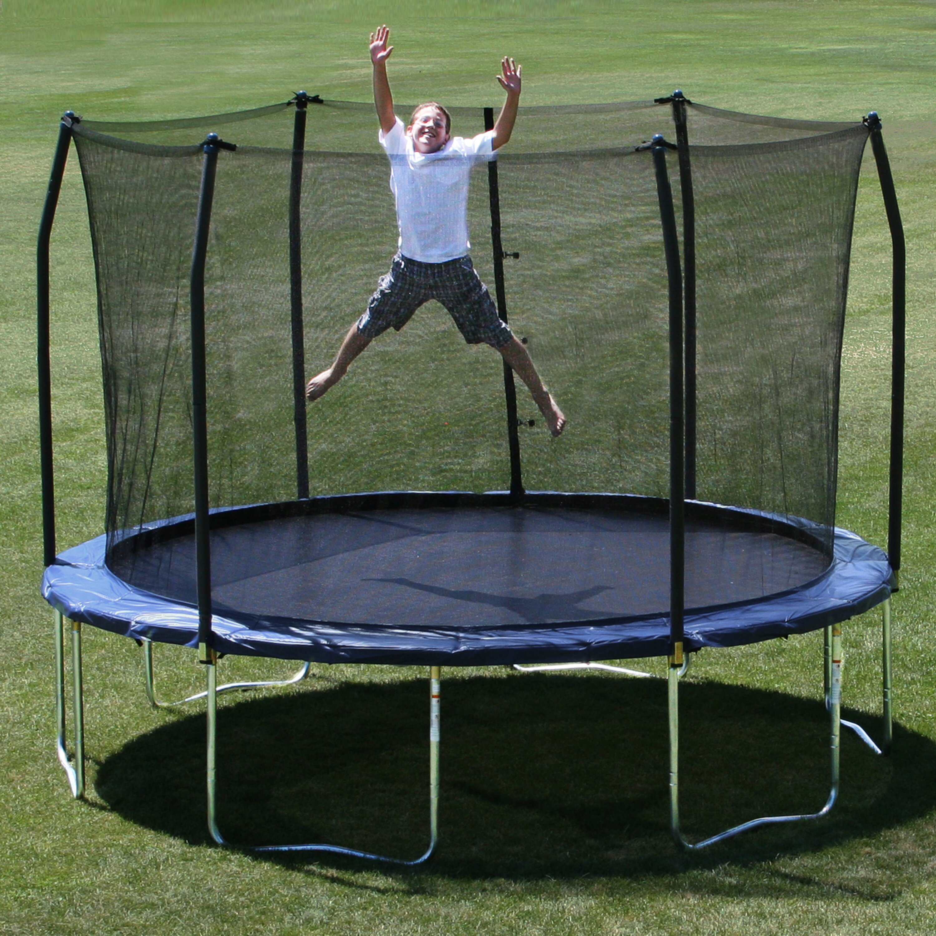 12 Foot Trampoline By Jumpsport: Skywalker 12' Trampoline With Safety Enclosure & Reviews