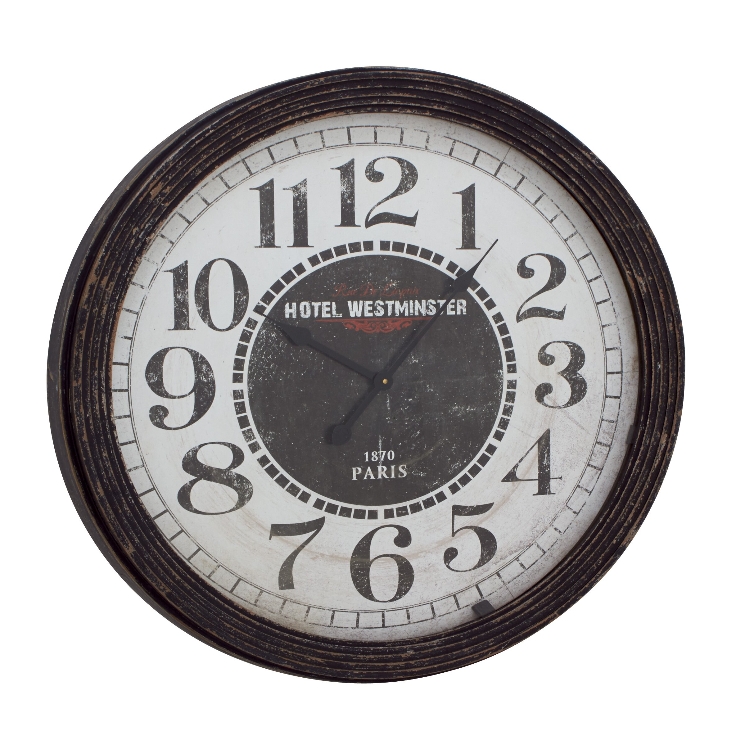 woodland imports oversized 31 quot wood wall clock reviews