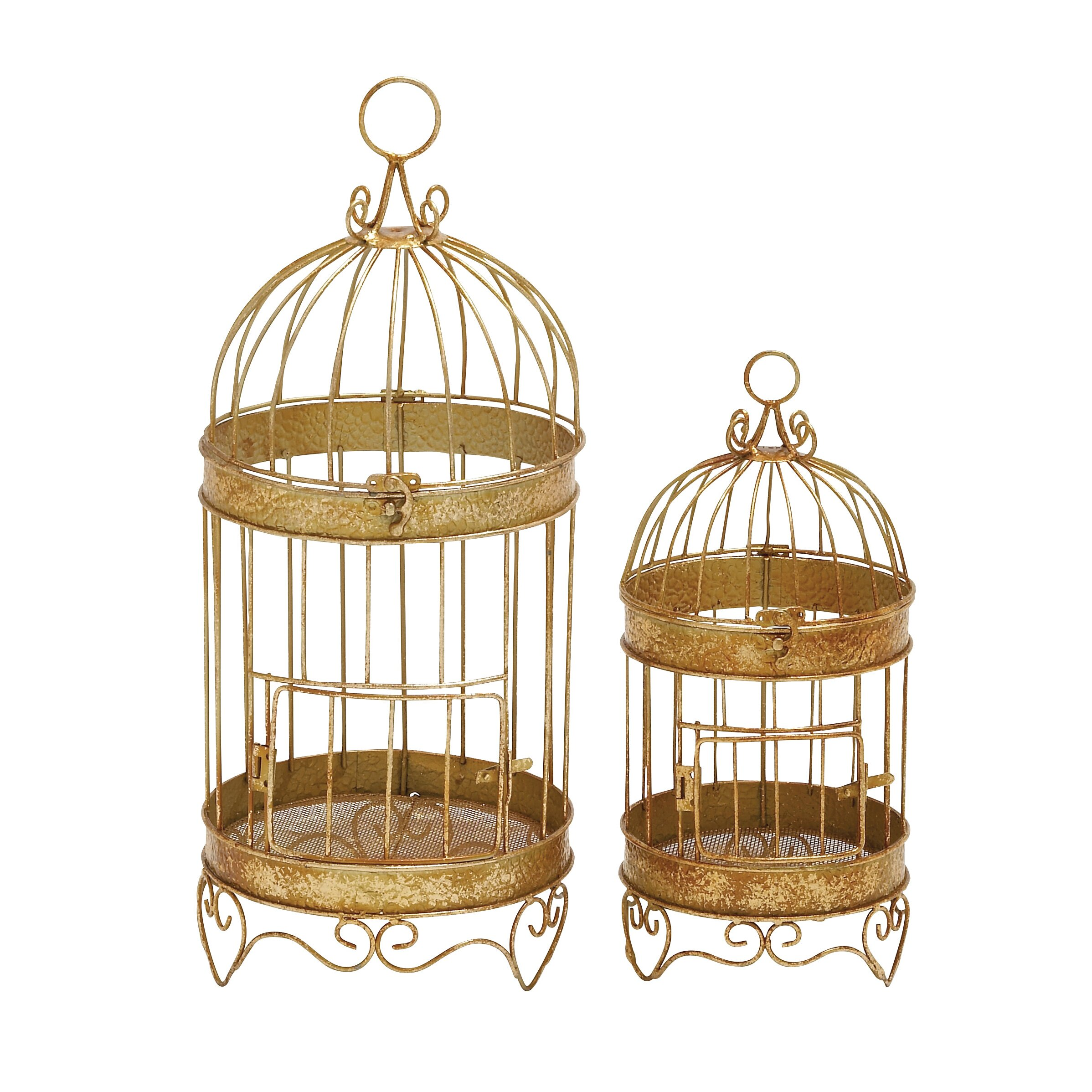 imports 2 piece stunning decorative bird cage set u0026 reviews wayfair