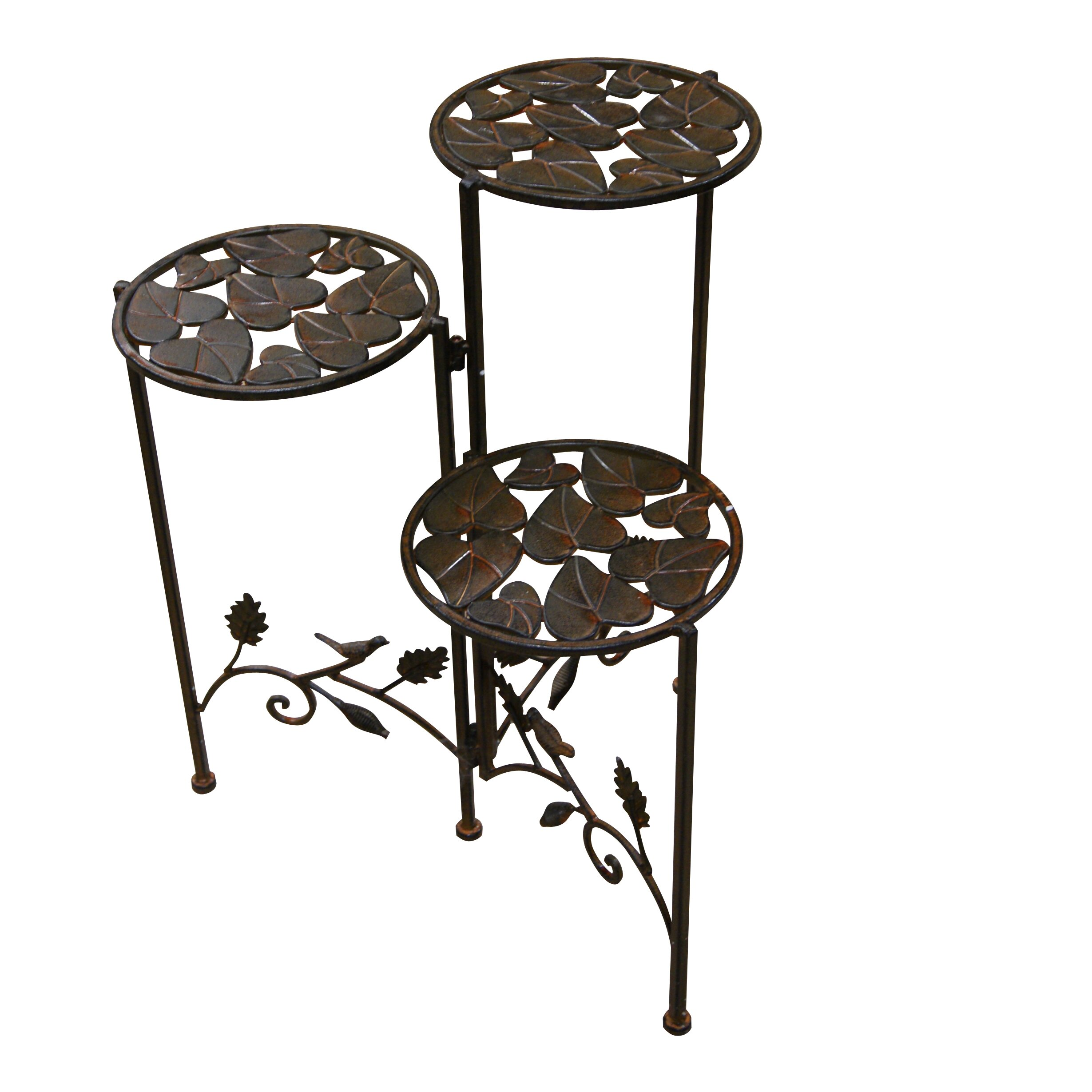 Woodland Imports 3 Tier Plant Stand Reviews Wayfair