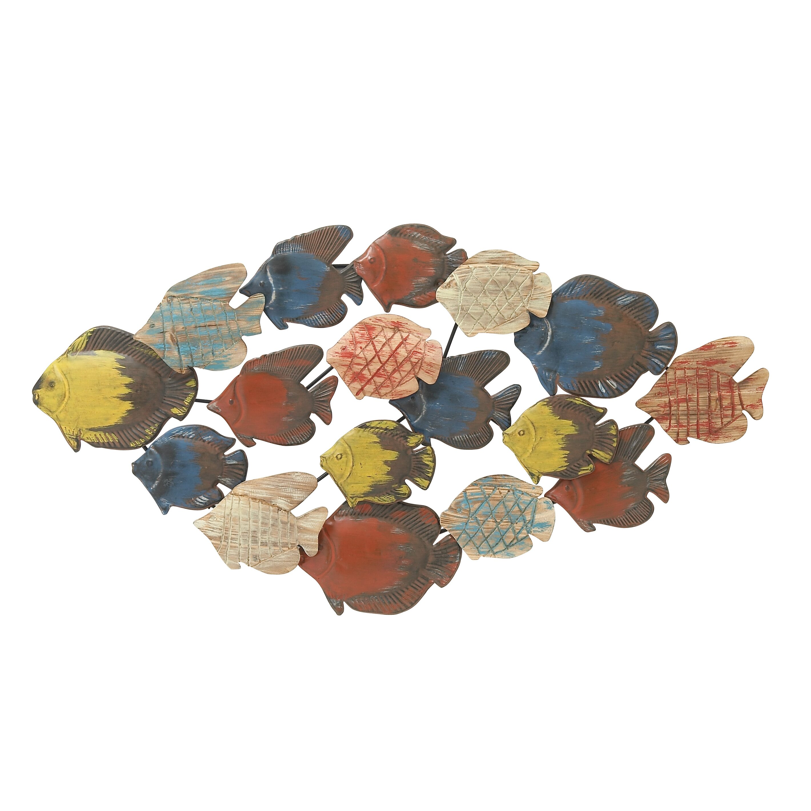 Woodland imports fish wall d cor reviews wayfair for Fish wall decor