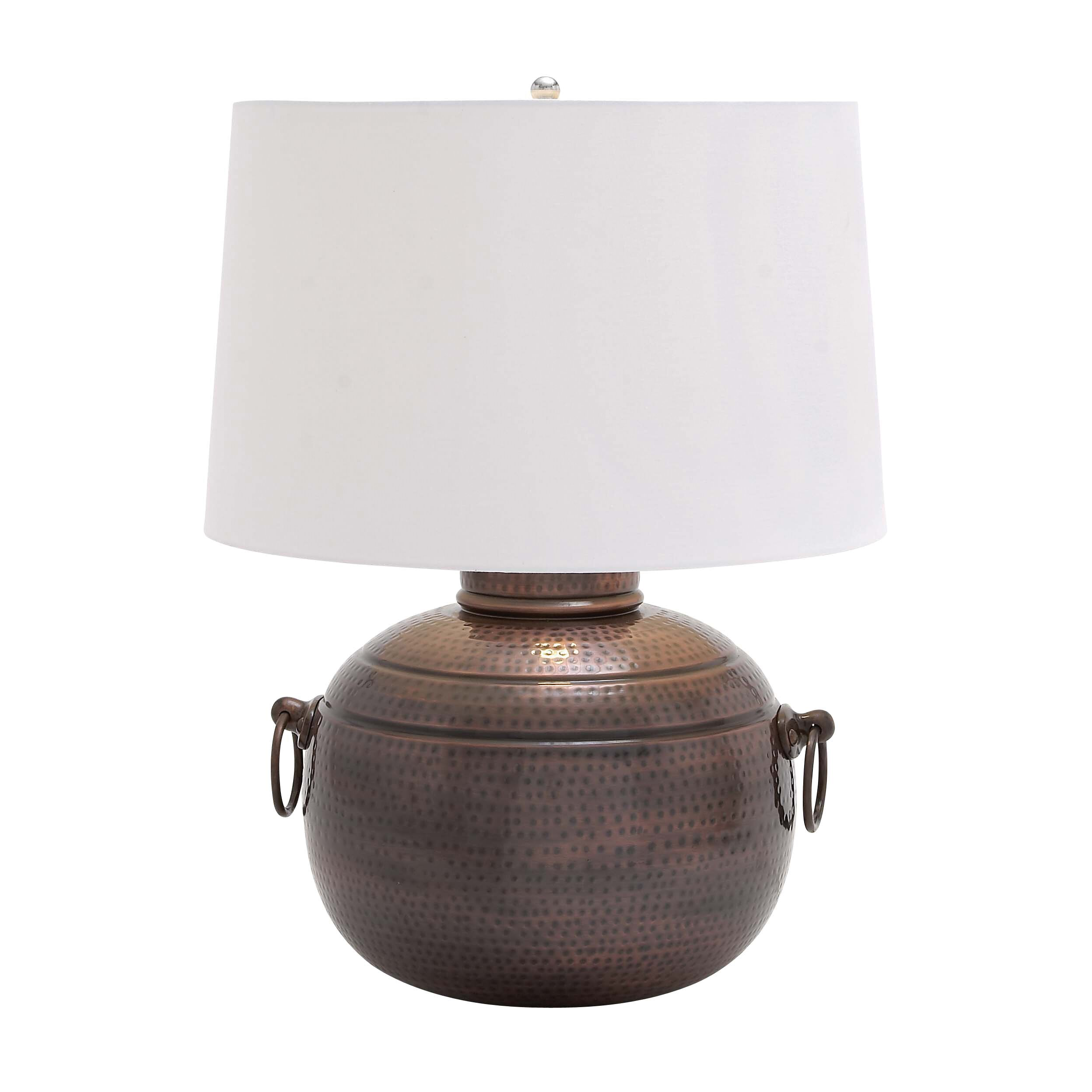 hammered design metal 26 h table lamp with empire shade by woodland. Black Bedroom Furniture Sets. Home Design Ideas