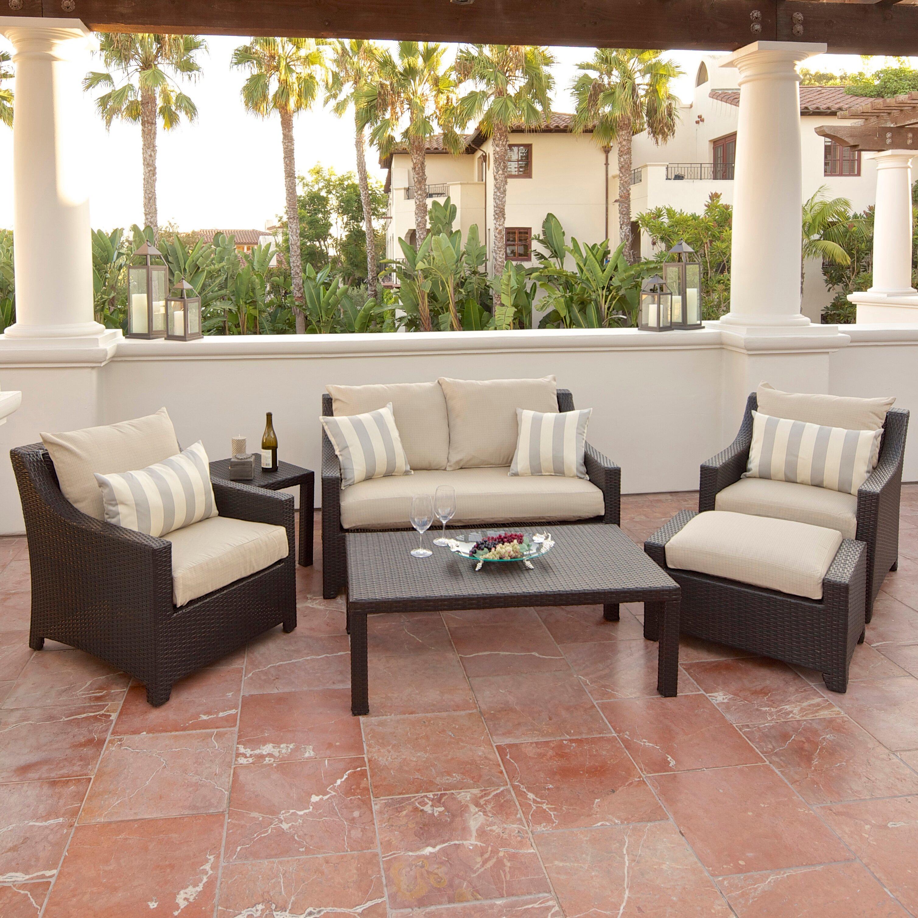 Outdoor Winkel Oss Rst Outdoor Slate Piece Deep Seating Group In