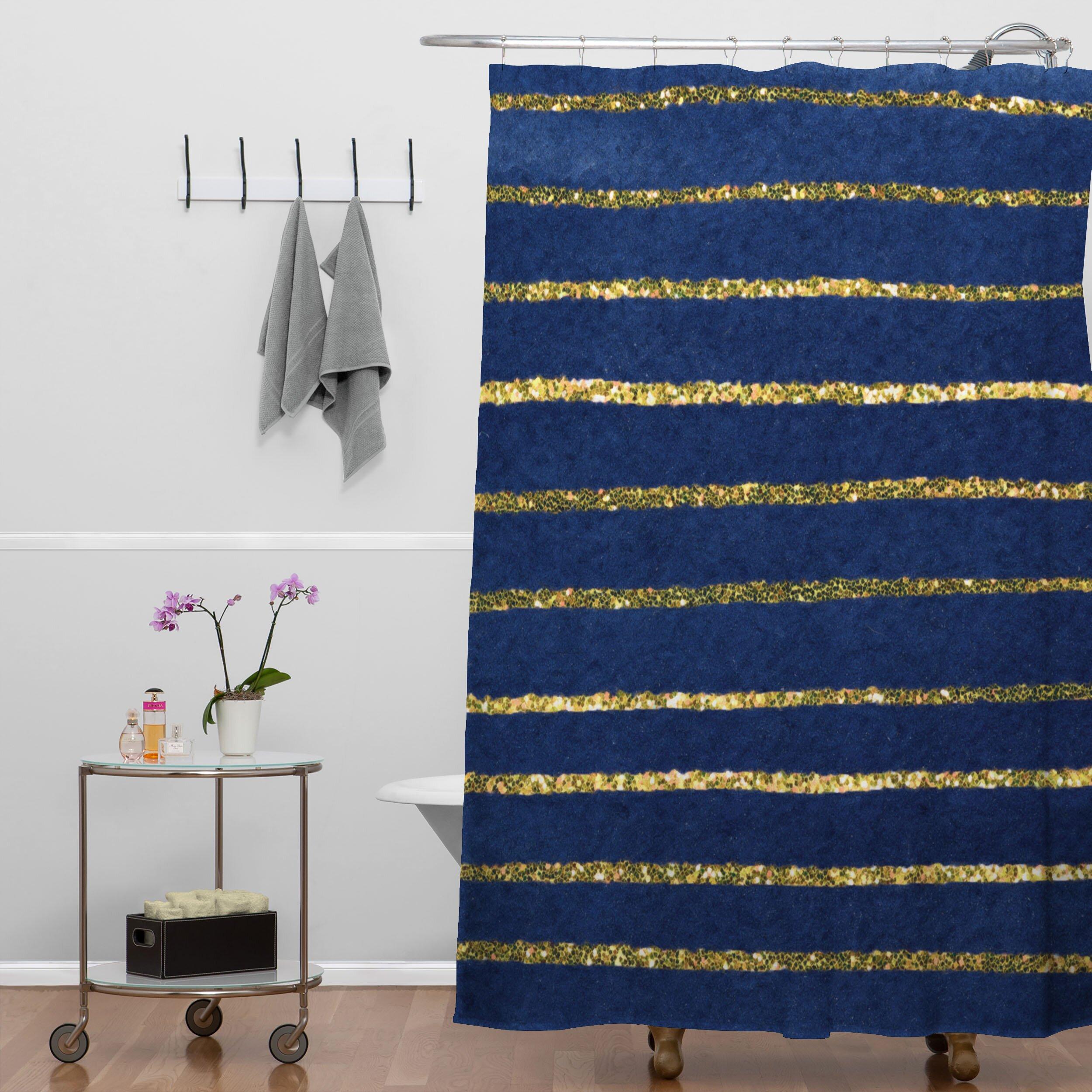social proper nautical sparkle shower curtain wayfair