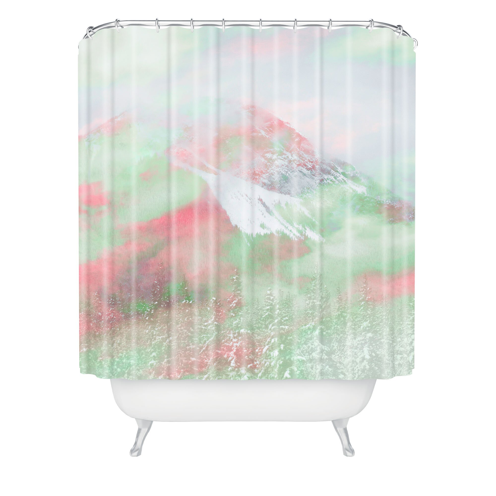 Caleb Troy Banff Painted Christmas Shower Curtain by DENY Designs