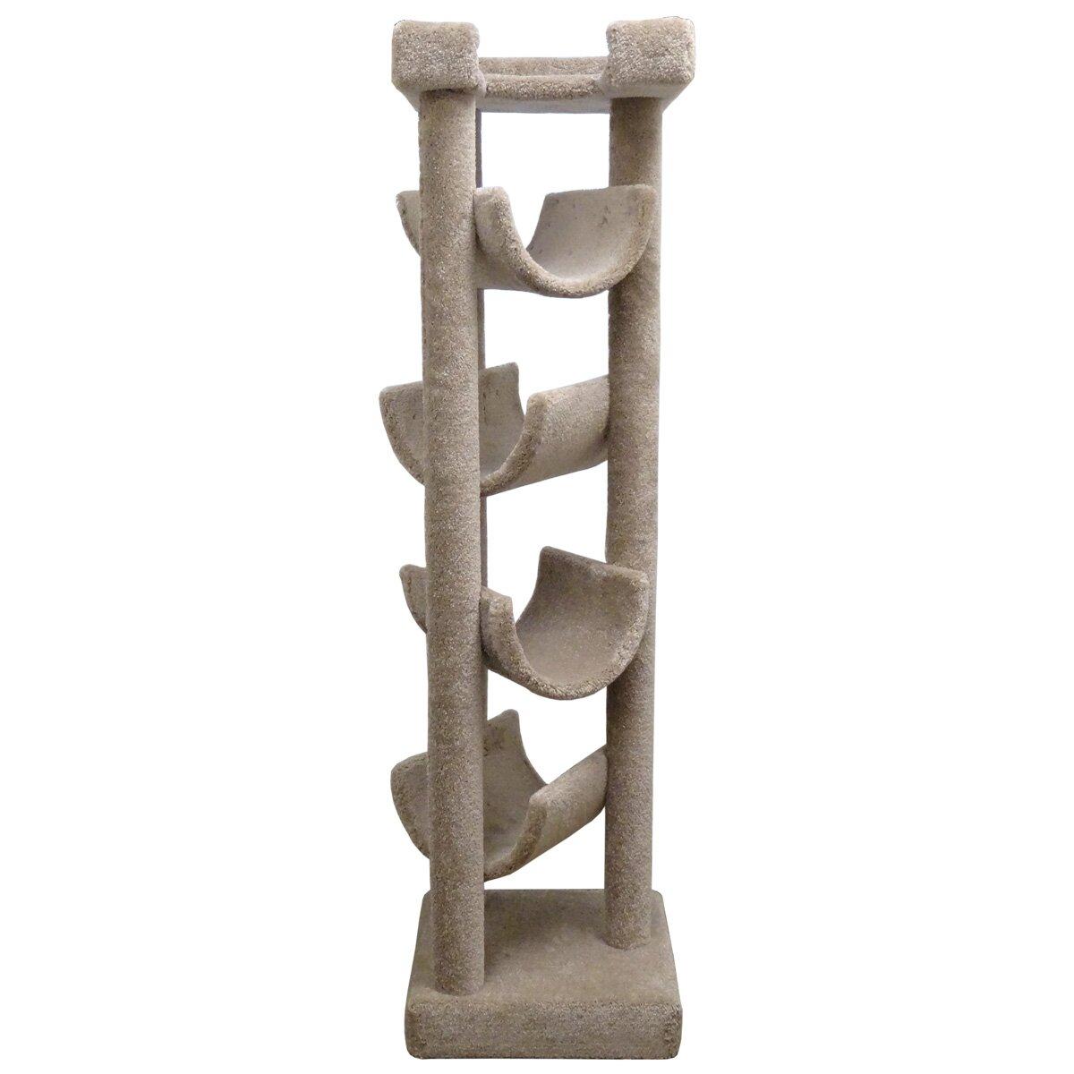 "New Cat Condos 72"" Premier Solid Wood Cat Tree & Reviews"