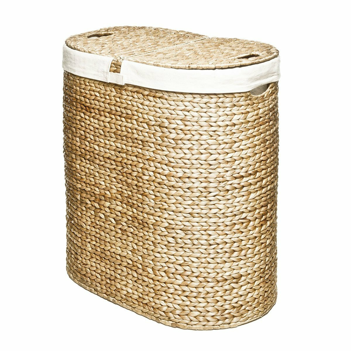 Seville classics classics water hyacinth oval double - Way laundry hamper ...