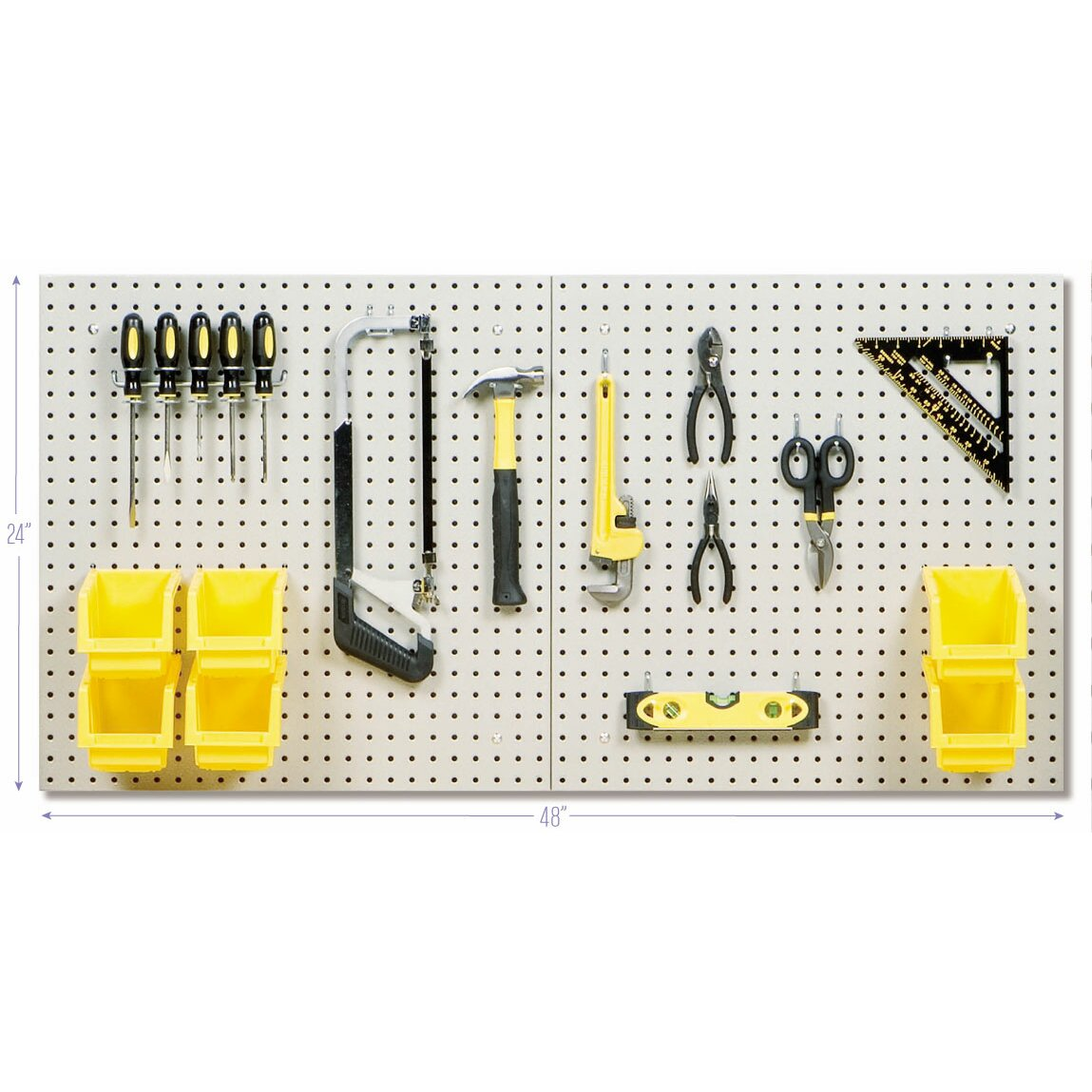 how to set up a pegboard