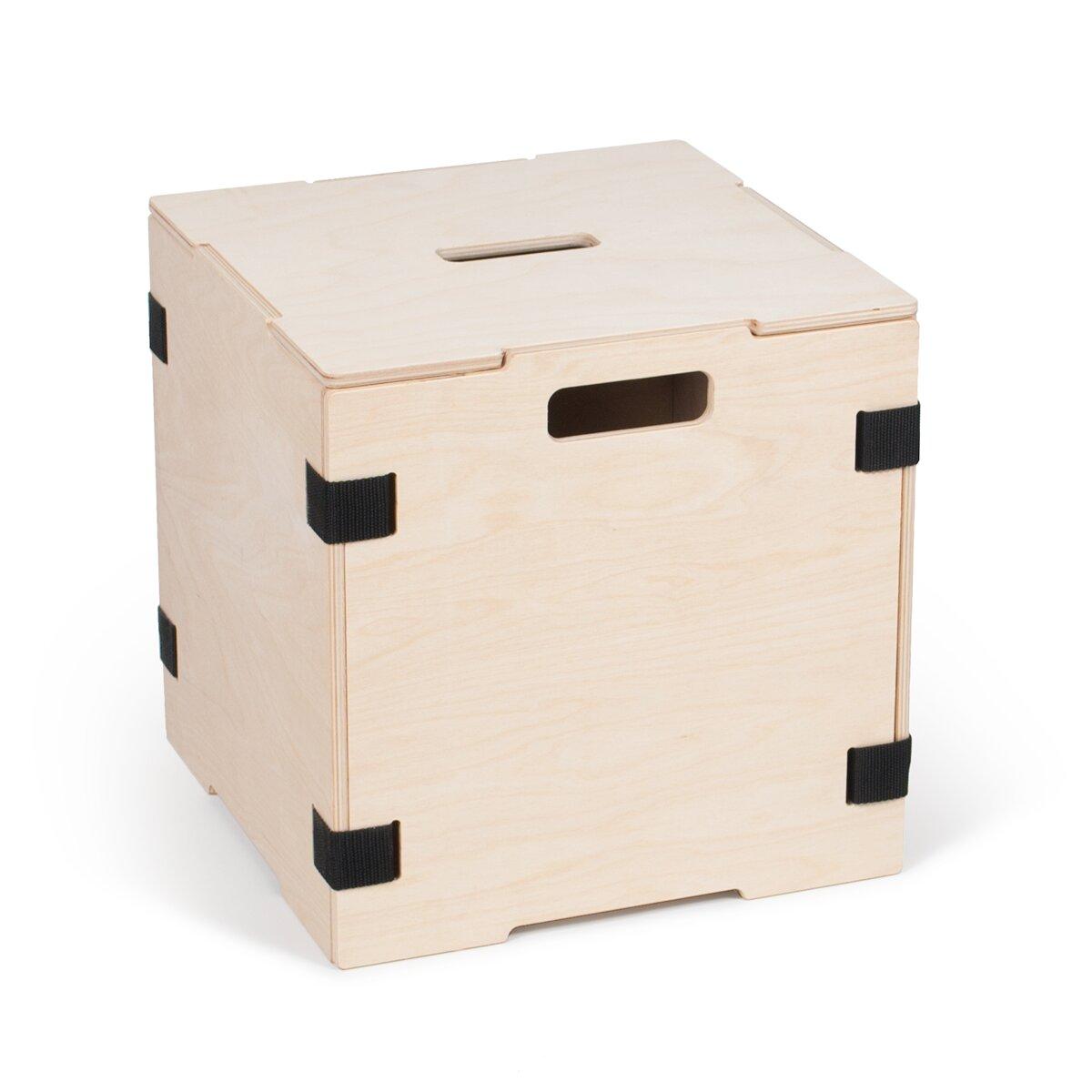 cube storage box with lid wayfair. Black Bedroom Furniture Sets. Home Design Ideas