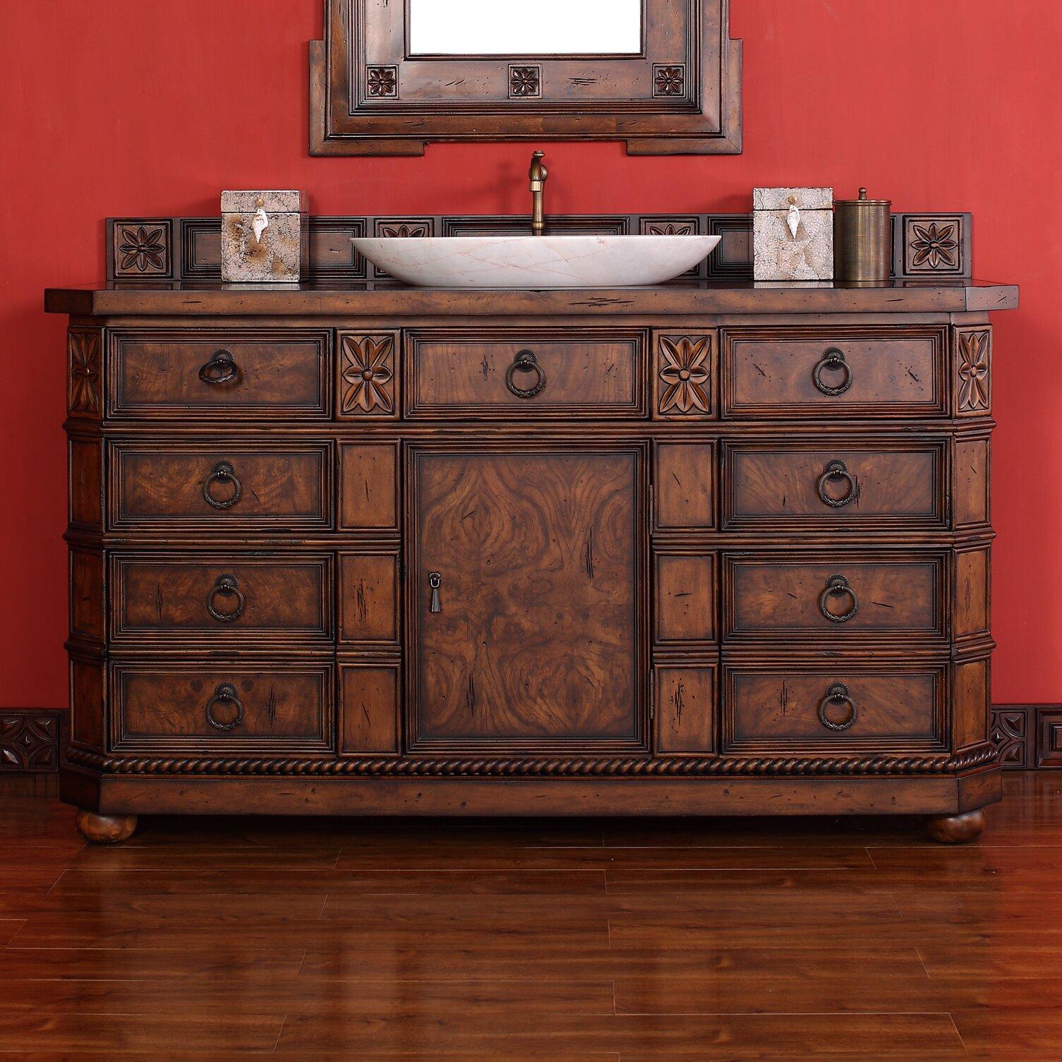 regent 60 quot single bathroom vanity with wood top wayfair