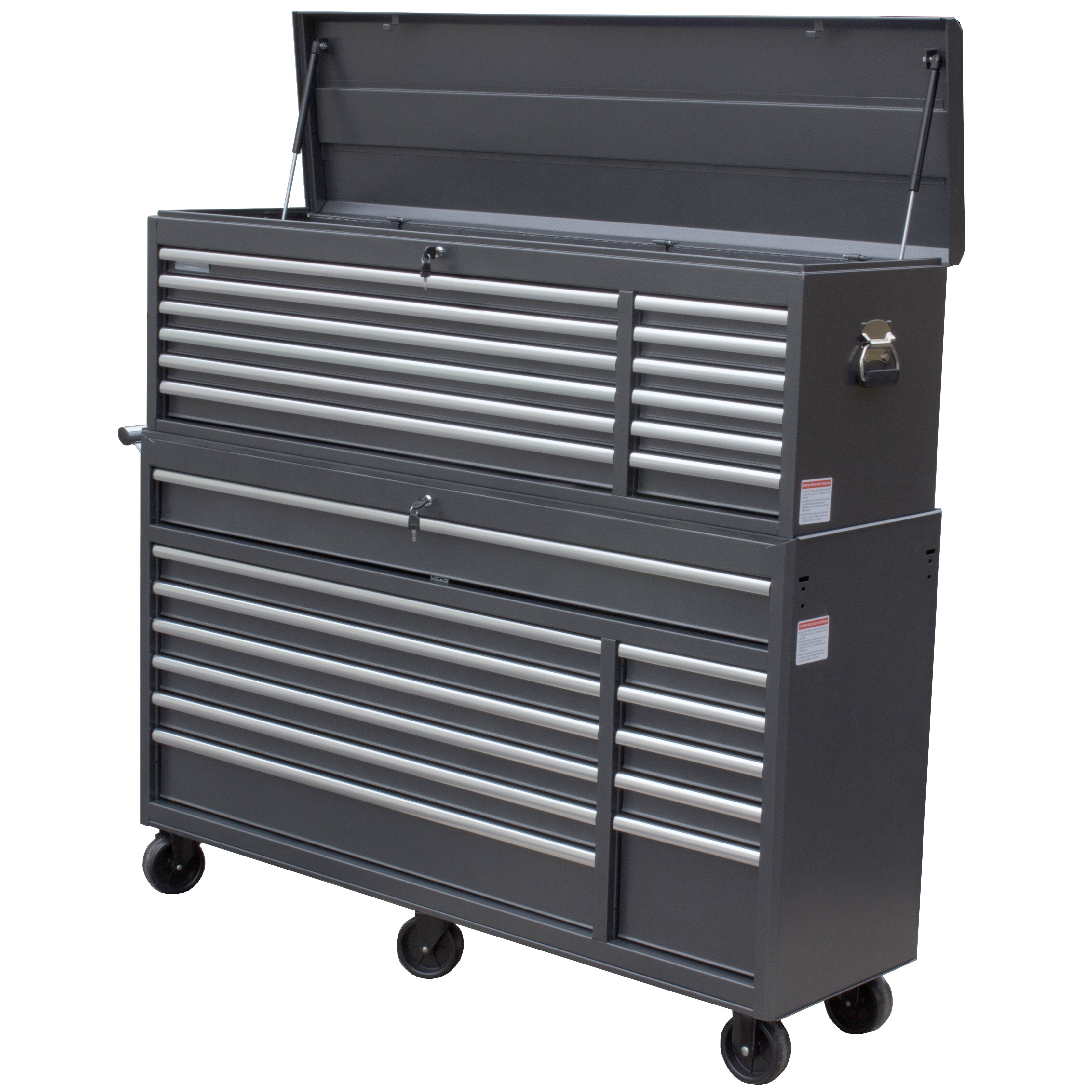 66 Wide 24 Drawer Tool Chest And Cabinet Combo Wayfair
