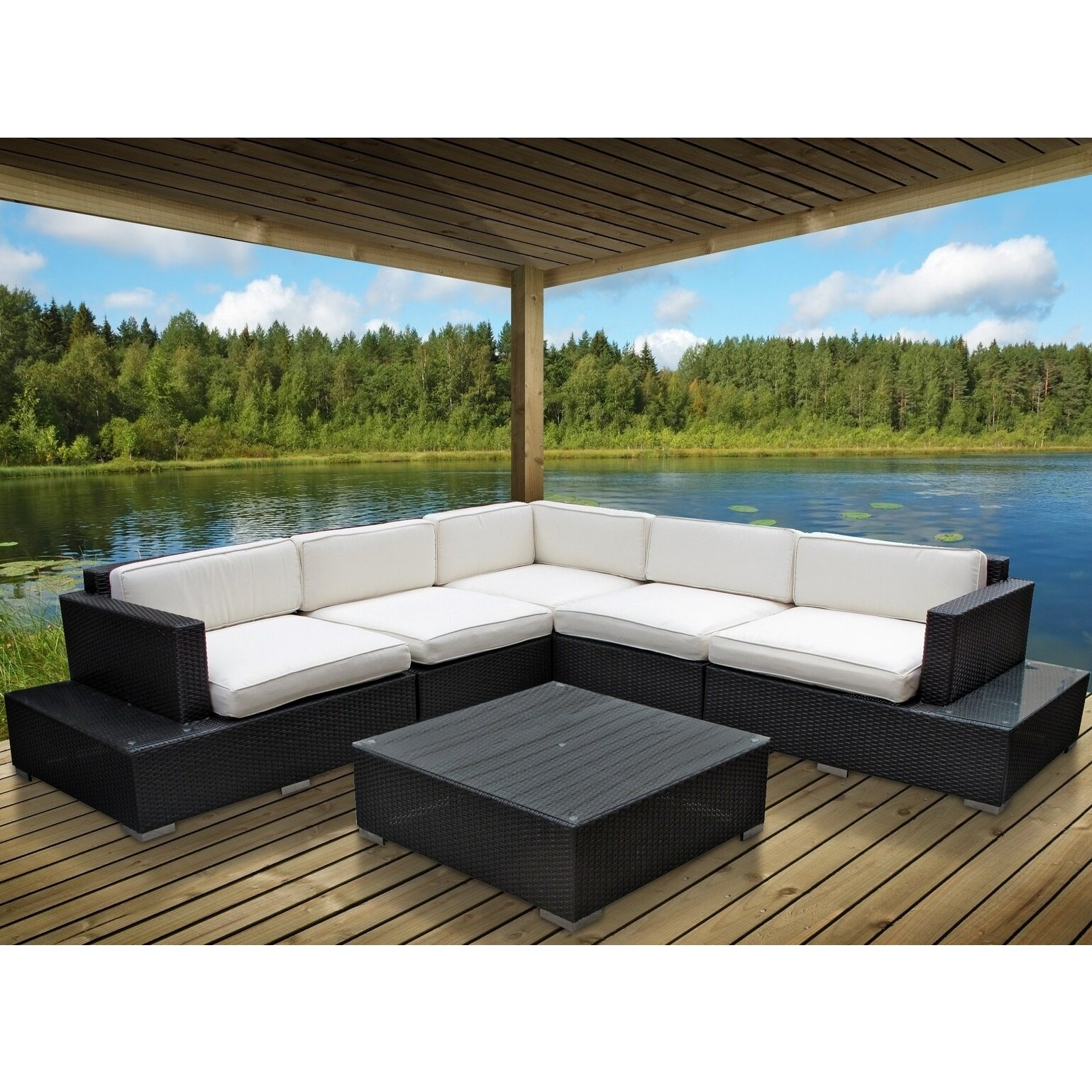 Modway Port 6 Piece Outdoor Patio Sectional Set Amp Reviews