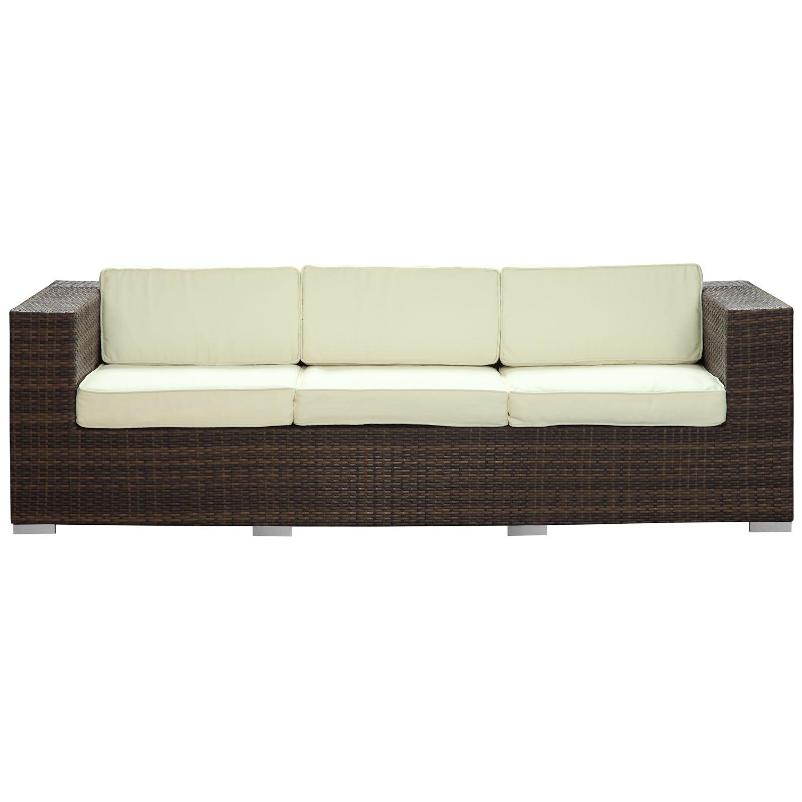Modway Daytona Outdoor Sofa with Cushions & Reviews