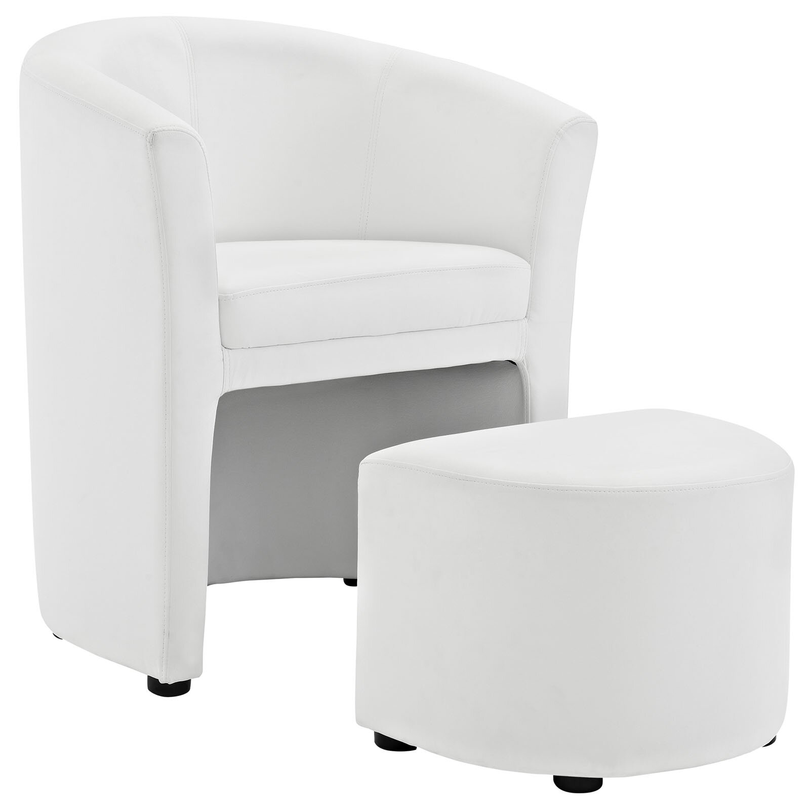 Modway Divulge Arm Chair and Ottoman Set & Reviews | Wayfair