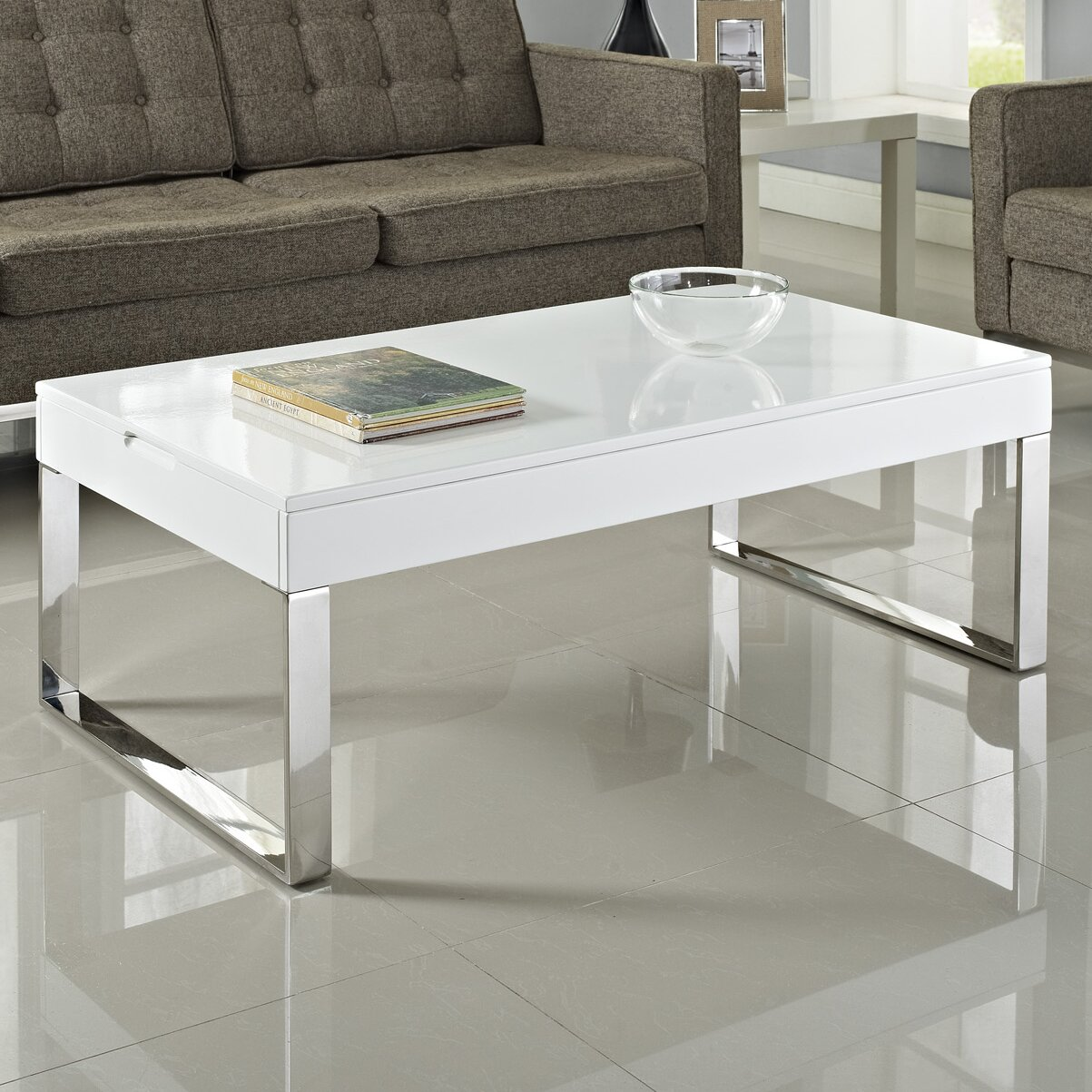 Modway Gloss Coffee Table Amp Reviews Wayfair