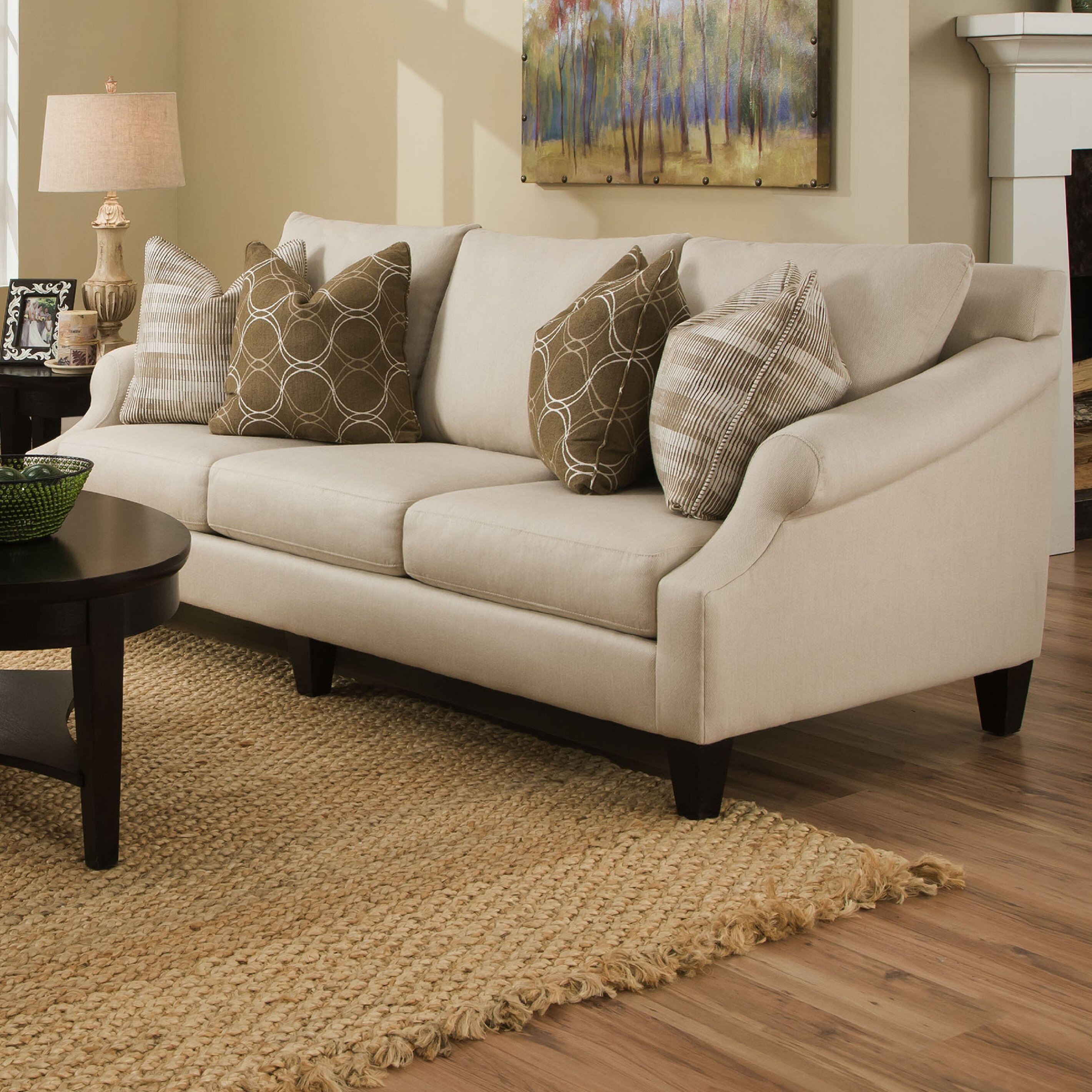 Molly Extra-Long Pique Flax Sofa | Wayfair
