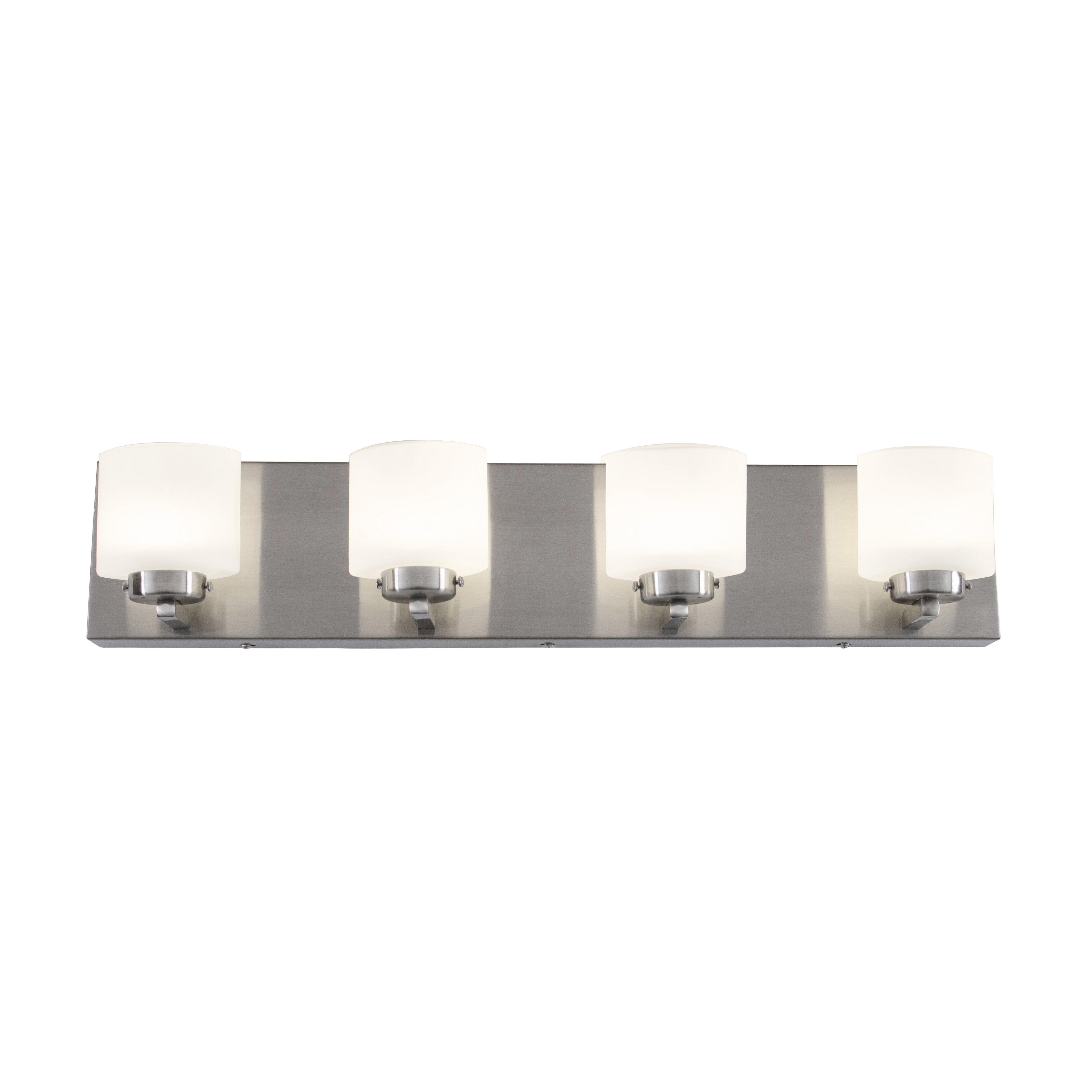 Alternating current clean 4 light led vanity light for Led bathroom vanity light