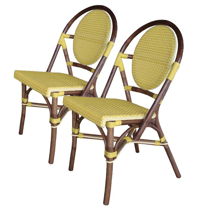 Padmas Plantation Outdoor Cottage Paris Bistro Side Chair