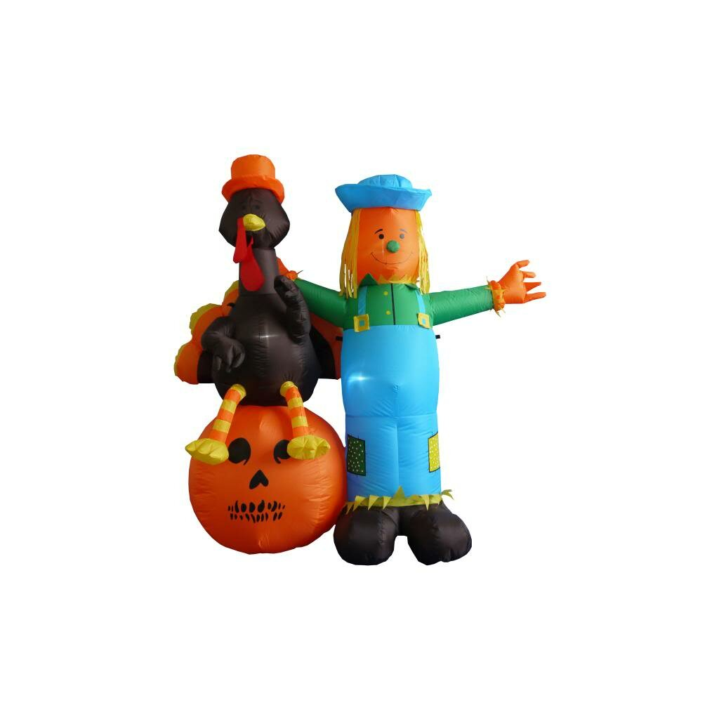 Decorating Ideas # BZB Goods 6 Thanksgiving Inflatable Scarecrow & Reviews