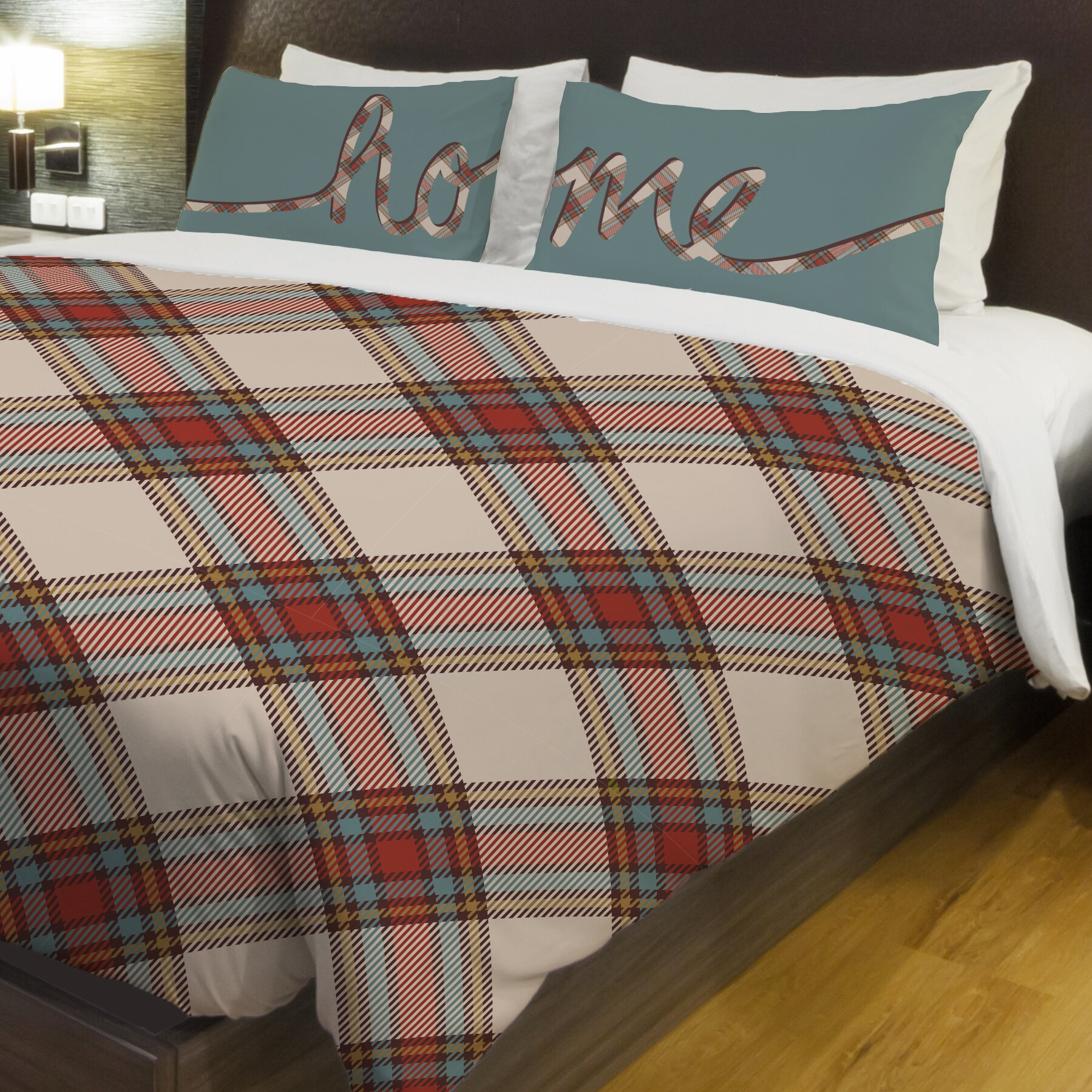 plaid fleece duvet cover wayfair. Black Bedroom Furniture Sets. Home Design Ideas