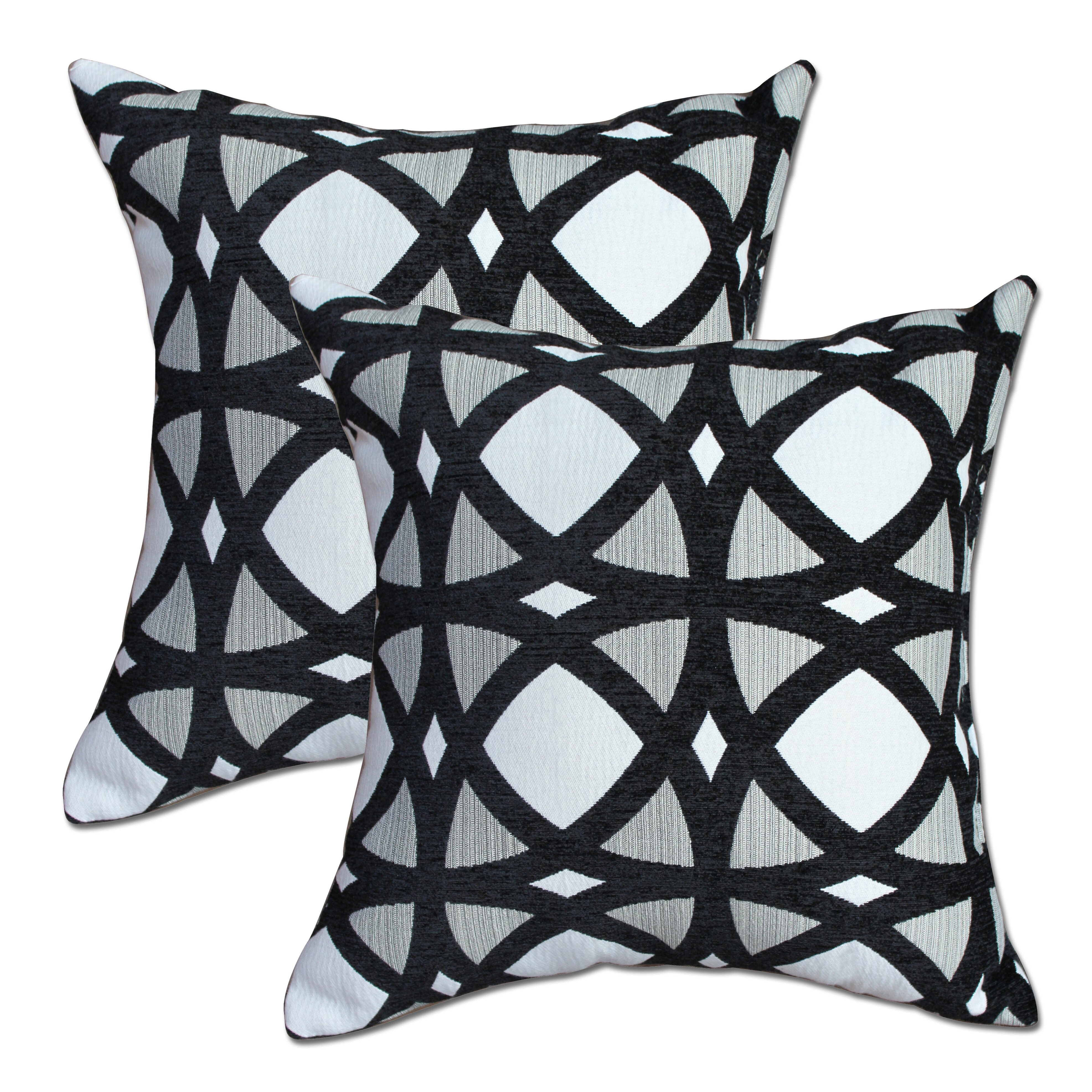 Big Black Decorative Pillows : Mosaic Black Throw Pillow Wayfair