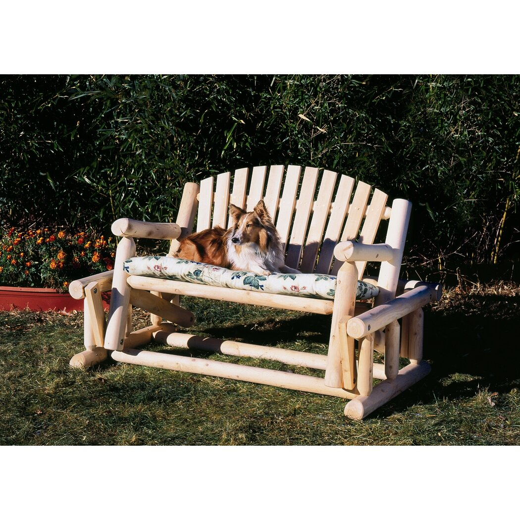 rustic cedar cedar log style wood garden bench reviews. Black Bedroom Furniture Sets. Home Design Ideas