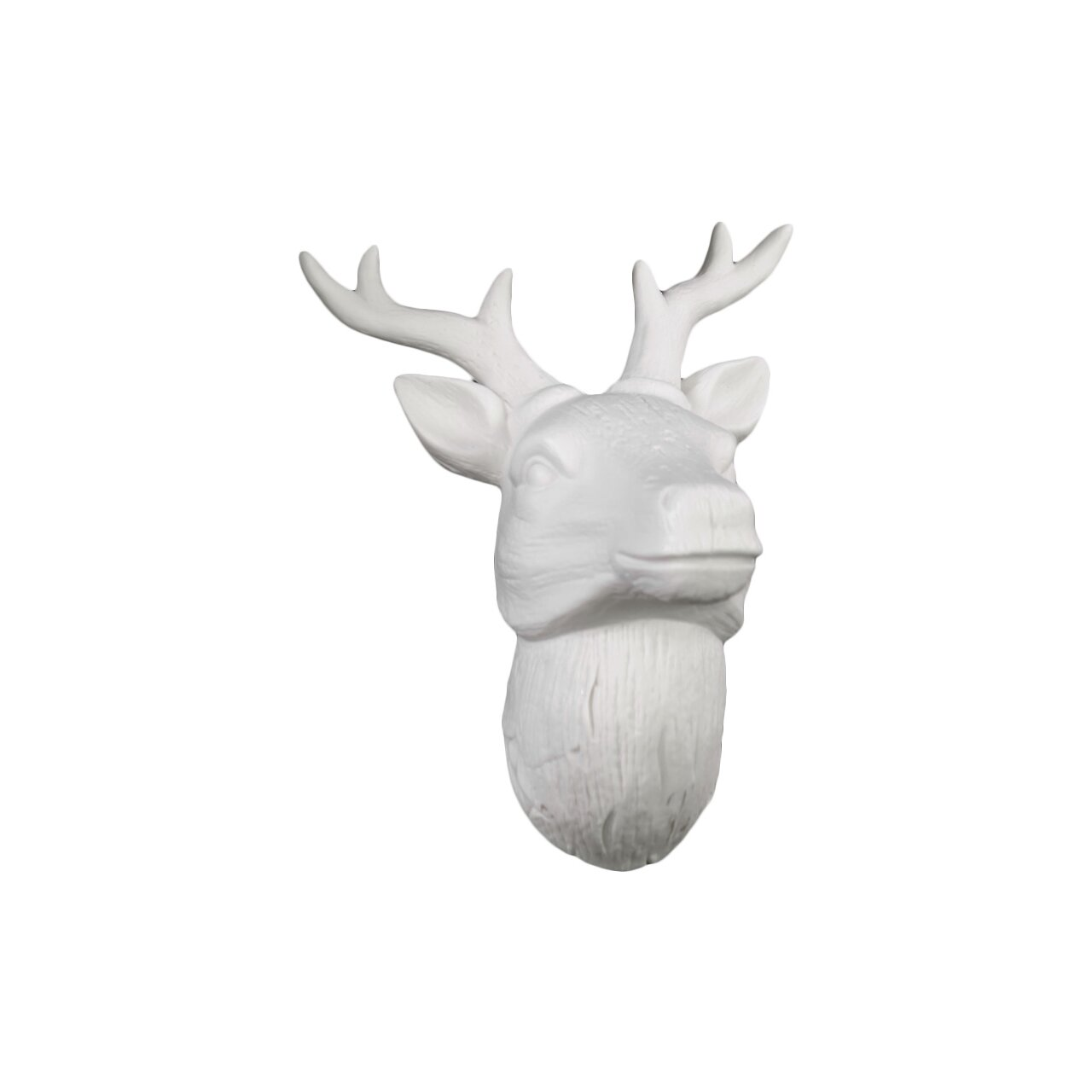 urban trends porcelain deer head wall decor gloss white reviews