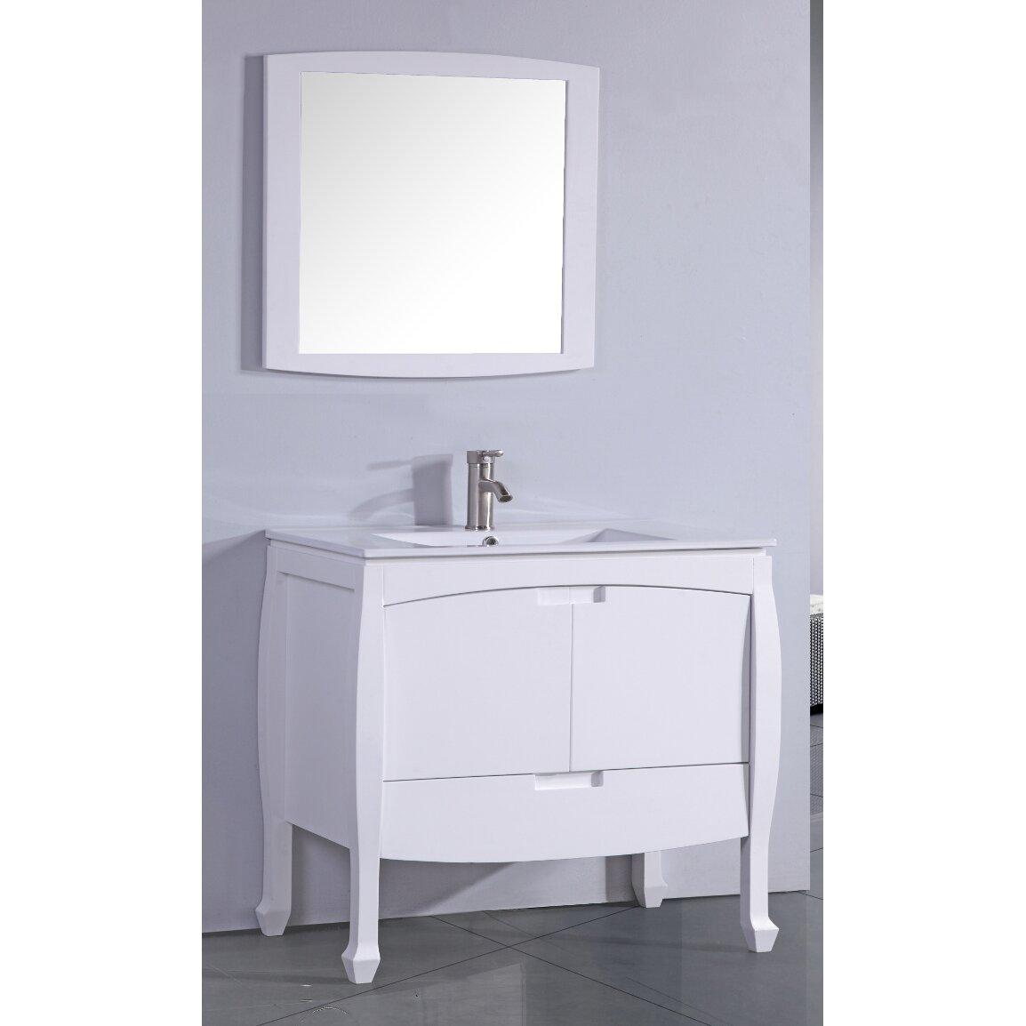 "Legion Furniture 30"" Single Bathroom Vanity Set with Mirror & Review"