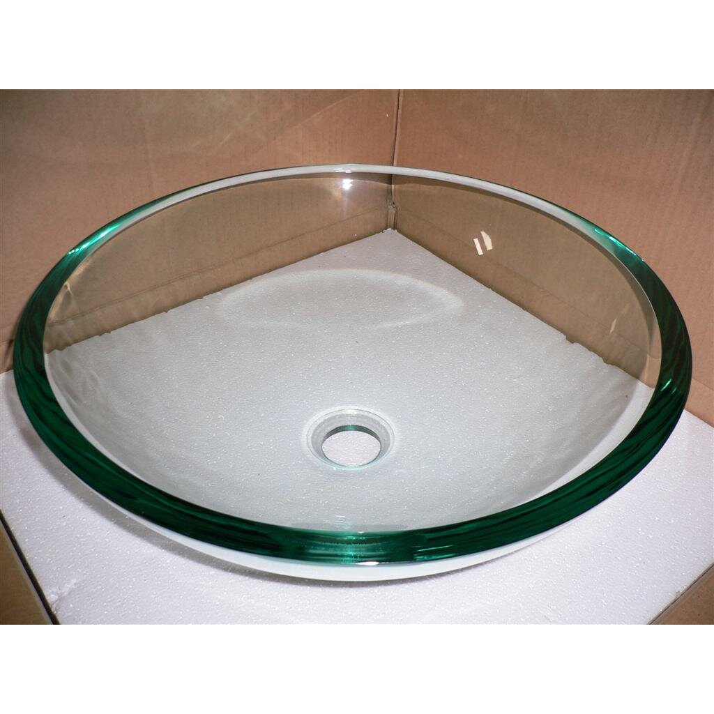 Tempered Glass Vessel Bathroom Sink Wayfair