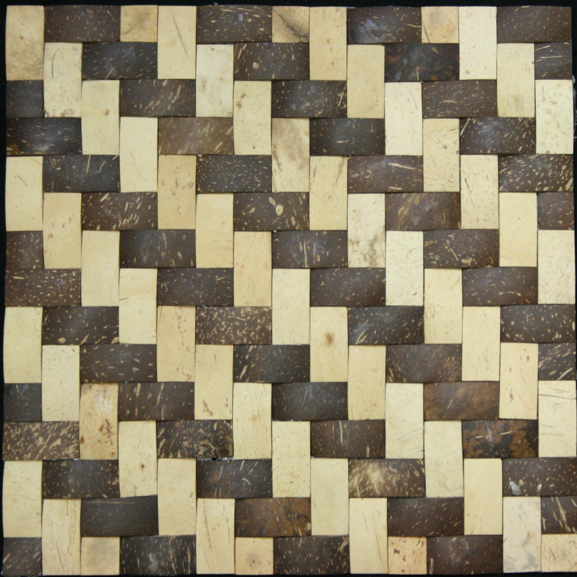 0 75 Quot X 1 5 Quot Coconut Mosaic Tile In Multi Wayfair