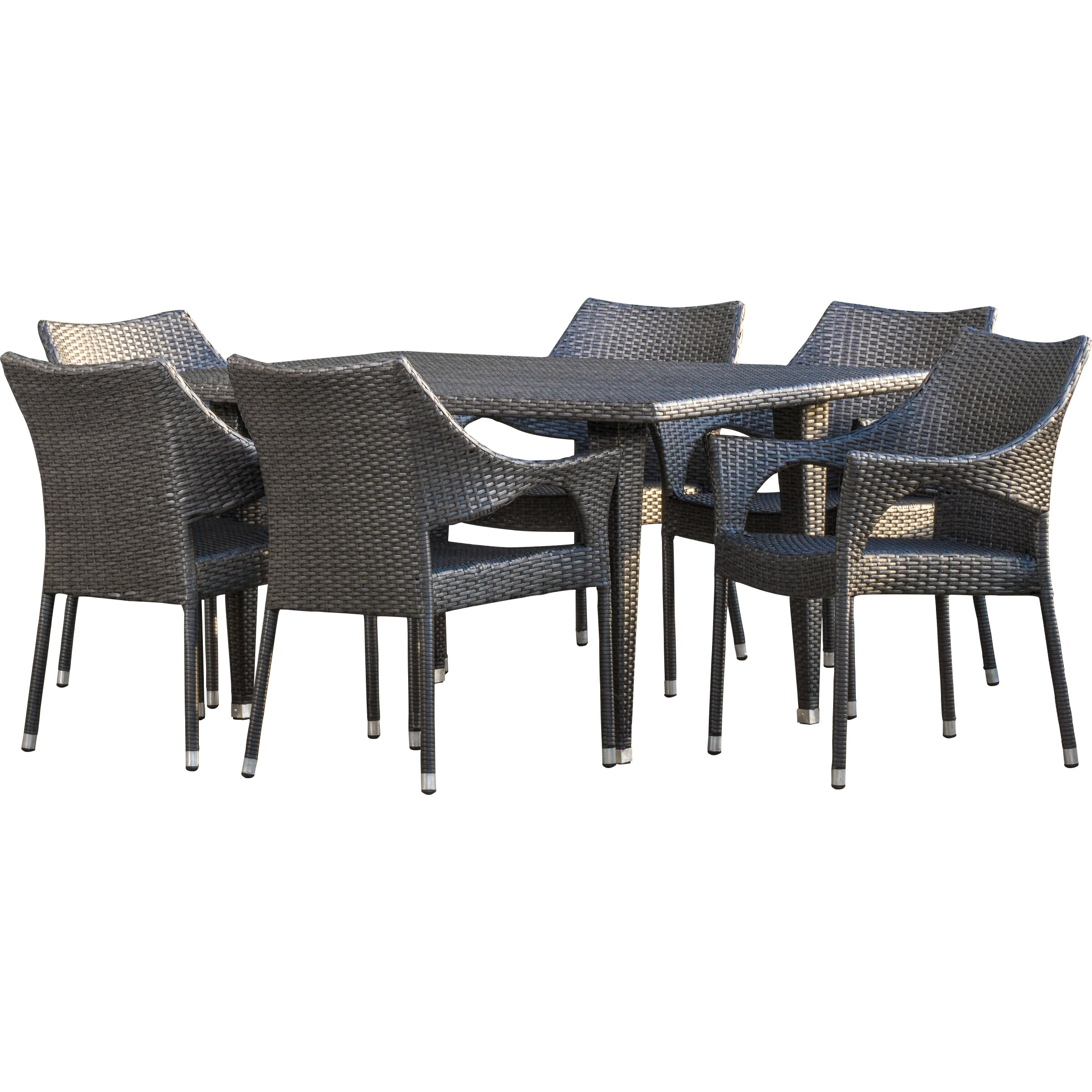 Home Loft Concept Cliff Outdoor 7 Piece Dining Set