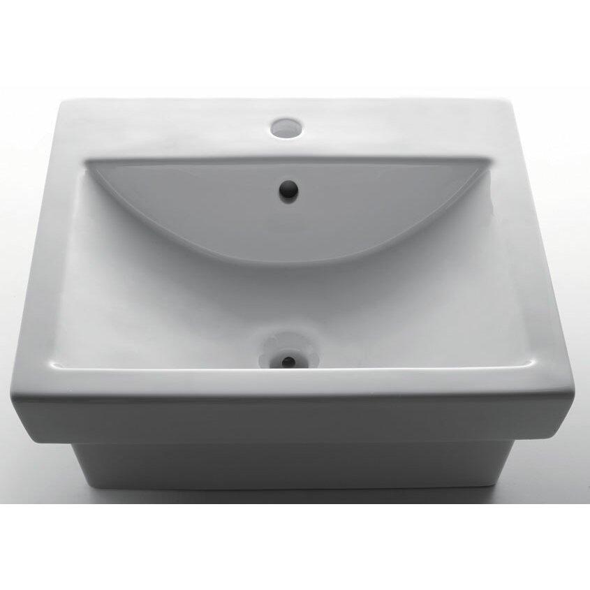 EAGO Porcelain Bathroom Sink with Single Hole & Reviews Wayfair