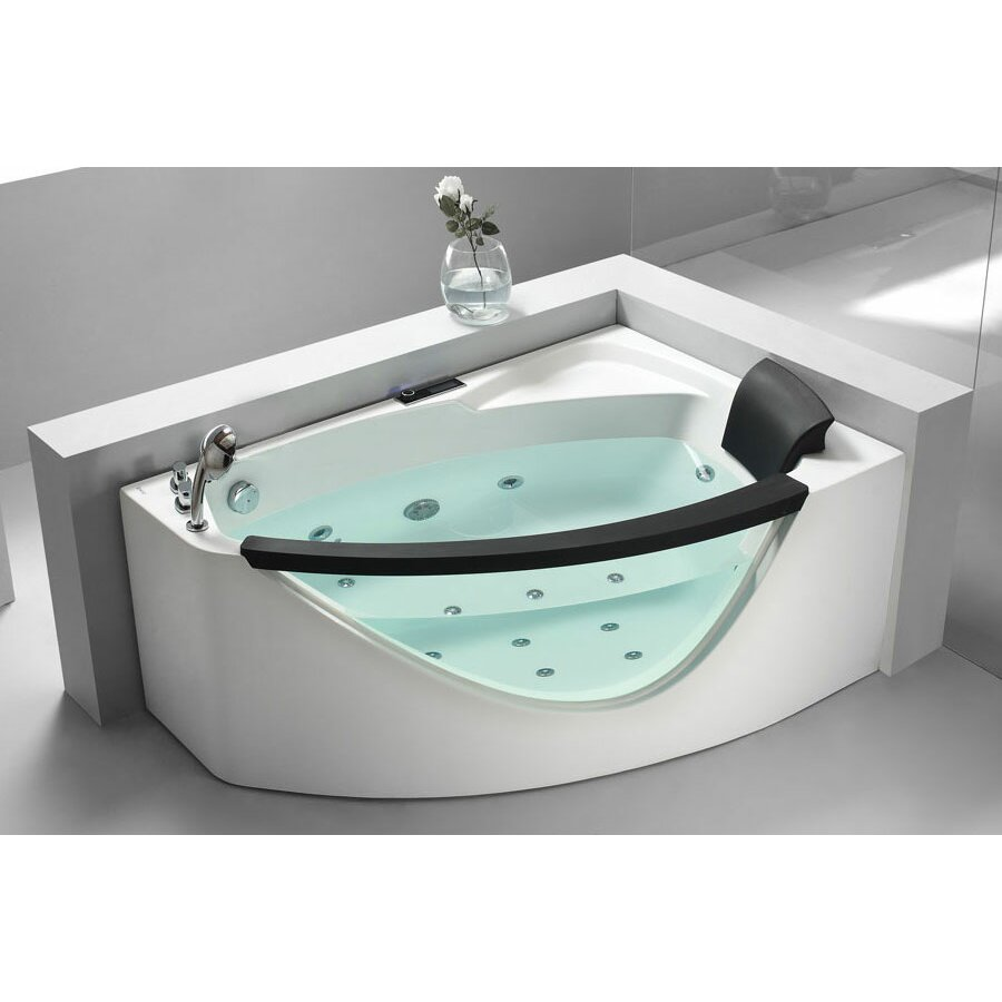 "59"" x 39"" Corner Whirlpool Bathtub 