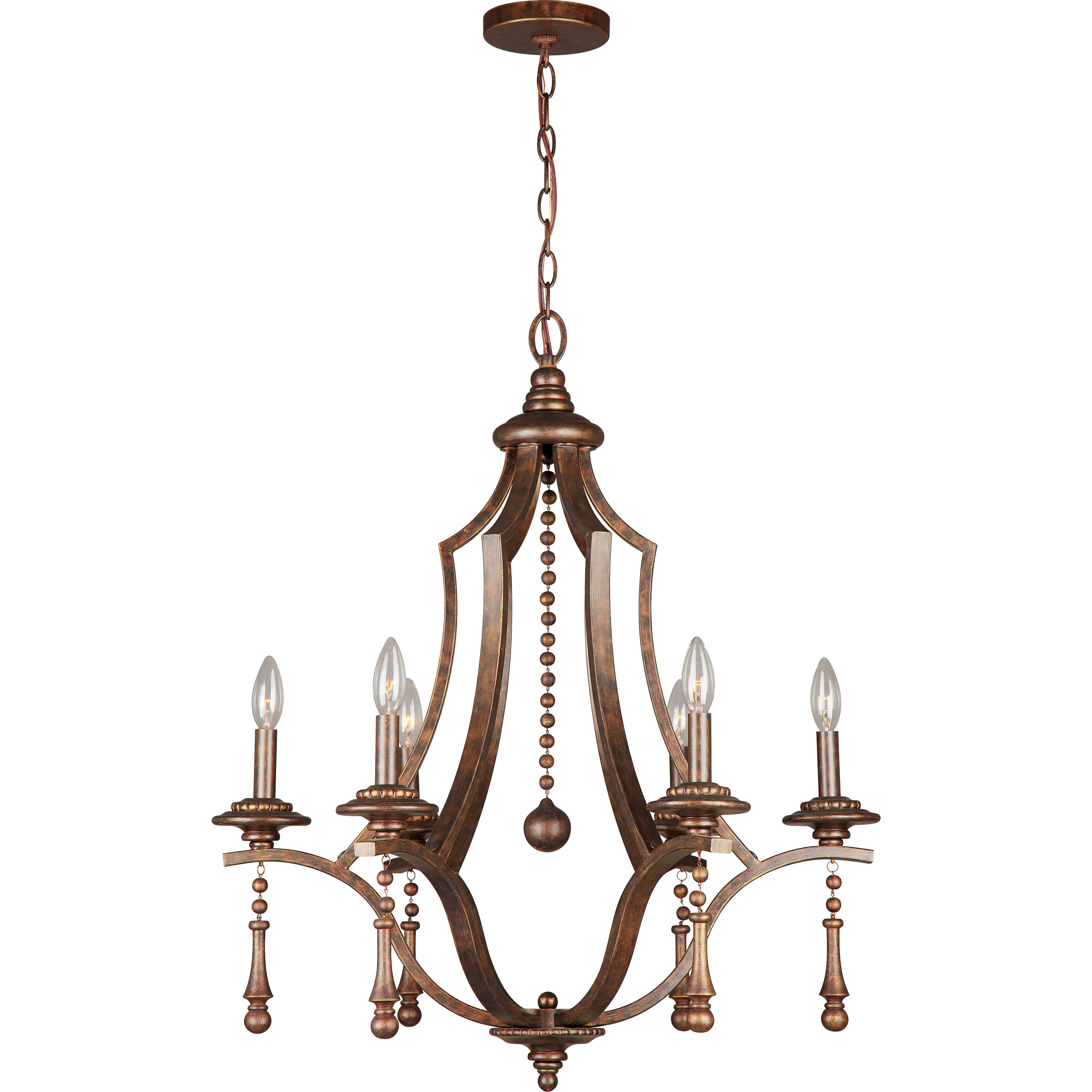 Crystorama Parson 6 Light Candle Chandelier & Reviews