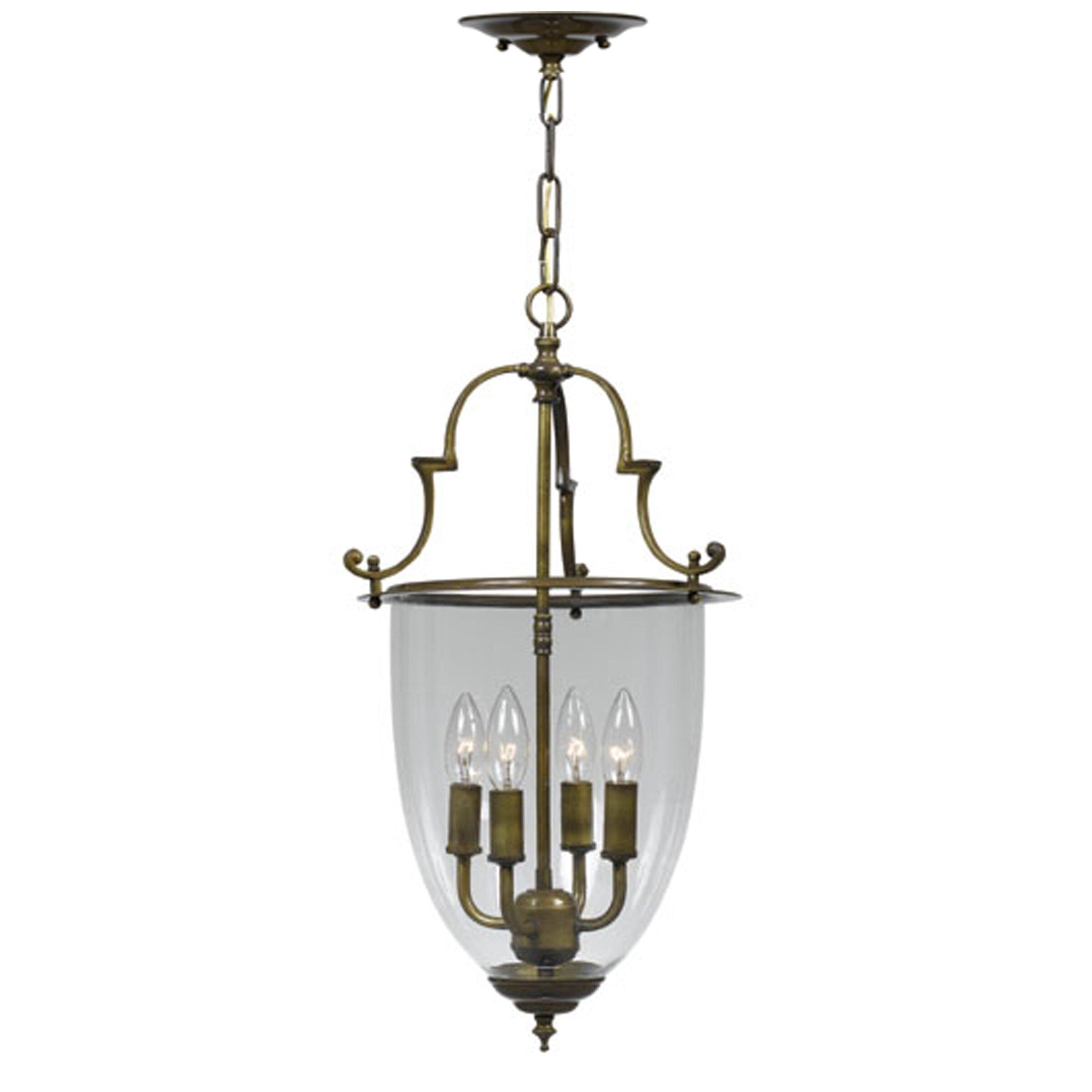 bell jar 4 light hanging foyer pendant by crystorama. Black Bedroom Furniture Sets. Home Design Ideas