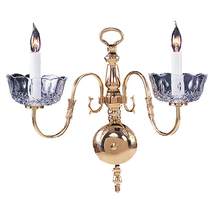 Colonial Wall Sconces Candles : Colonial 2 Light Candle Wall Sconce Wayfair