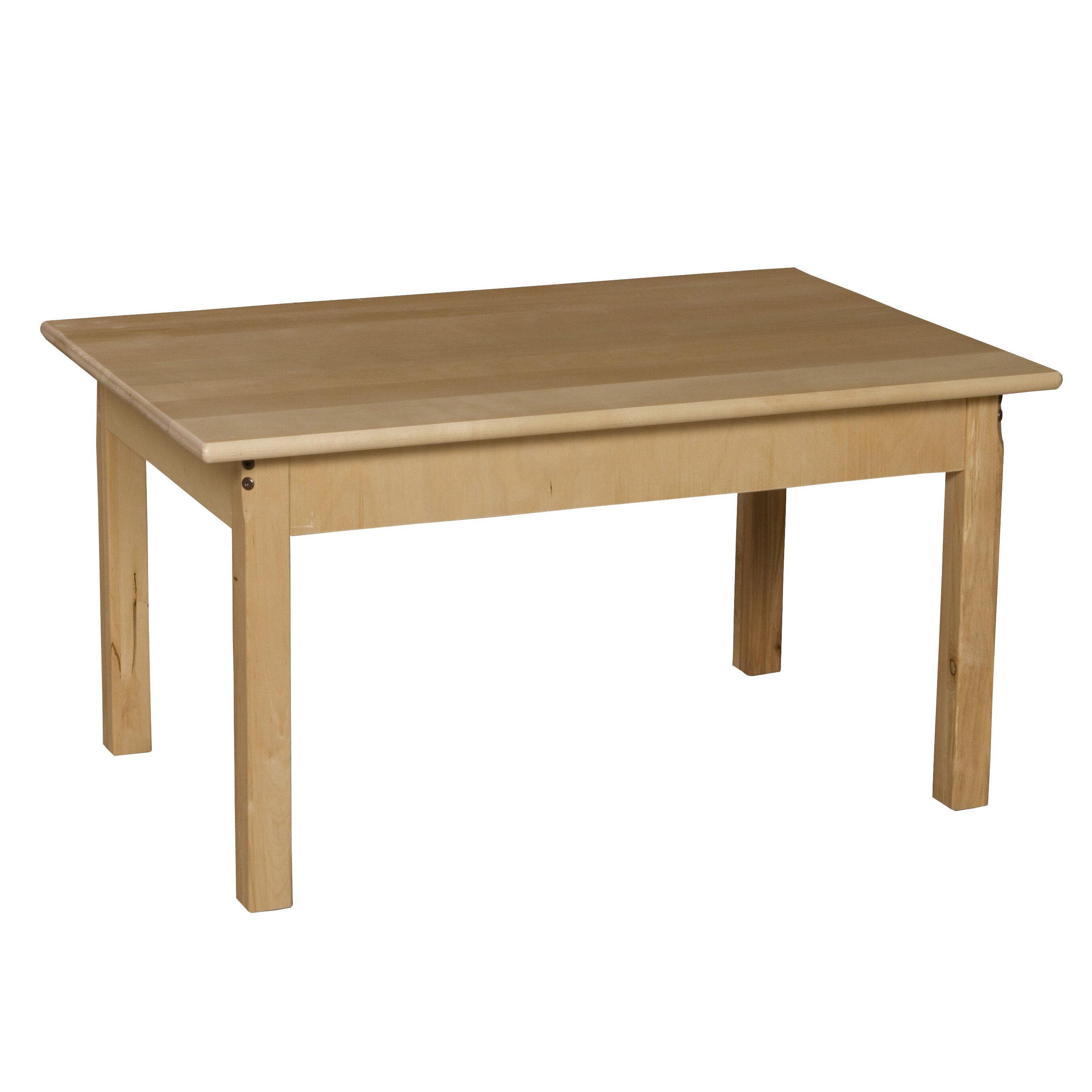 Wood designs 36 quot x 24 quot rectangular activity table amp reviews wayfair