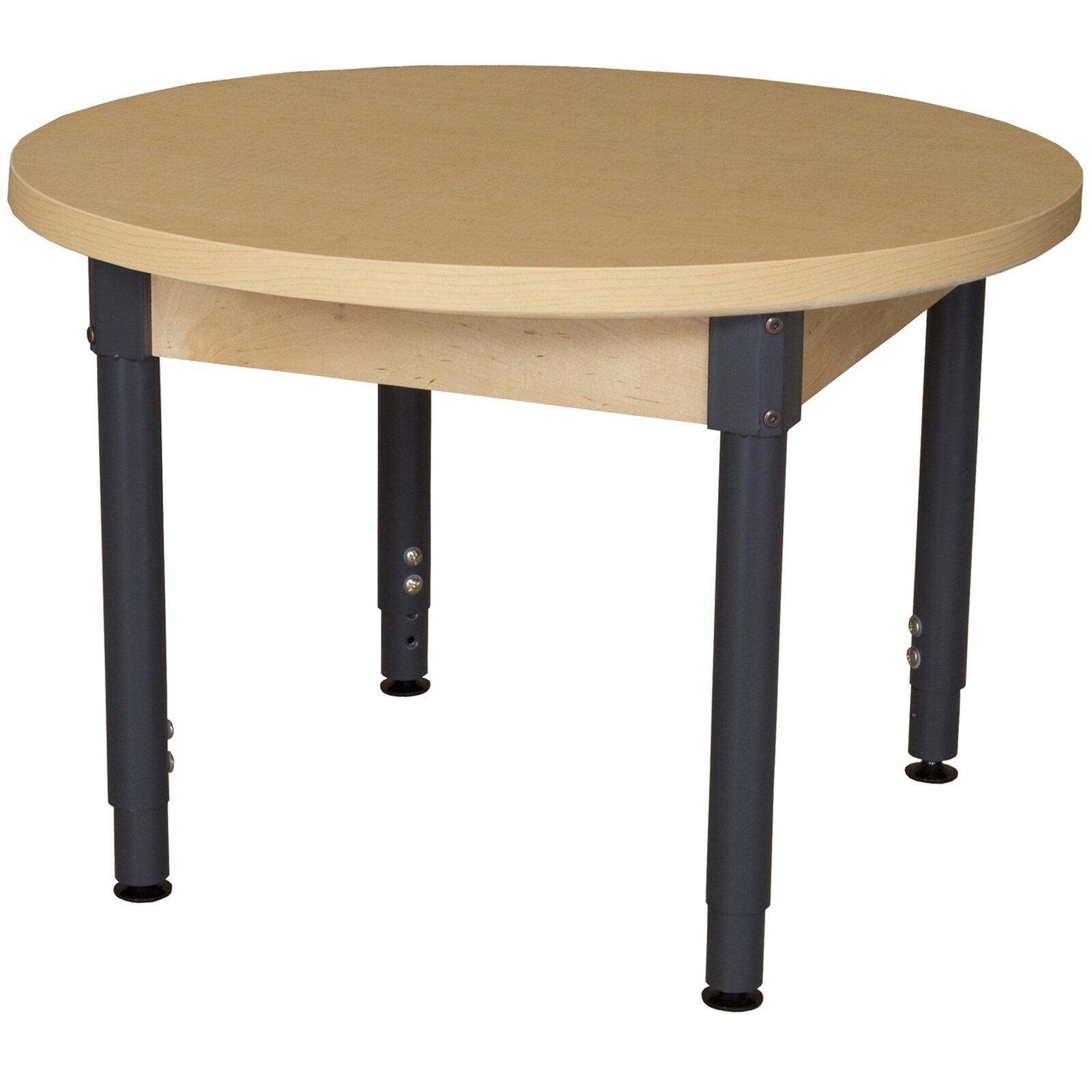 Round High Pressure Laminate Table Adjustable Legs