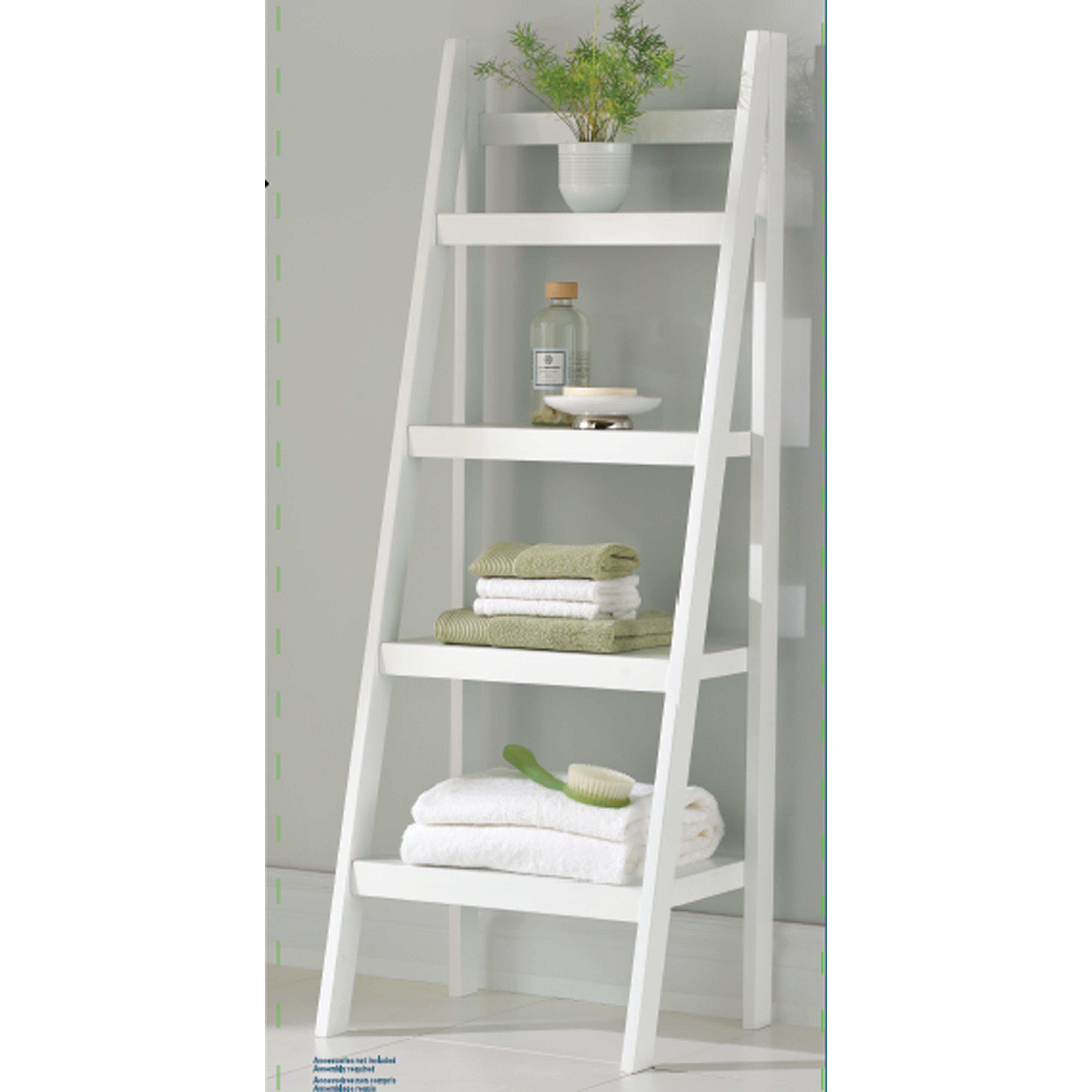 "Homestar 4 Shelf Ladder 46.8"" Bookcase & Reviews"