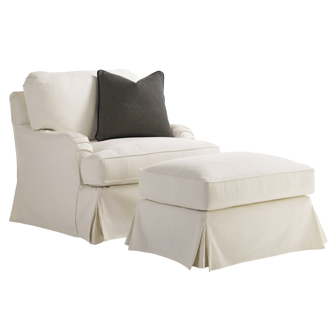 Coventry Hills Stowe Slipcover Swivel Arm Chair And